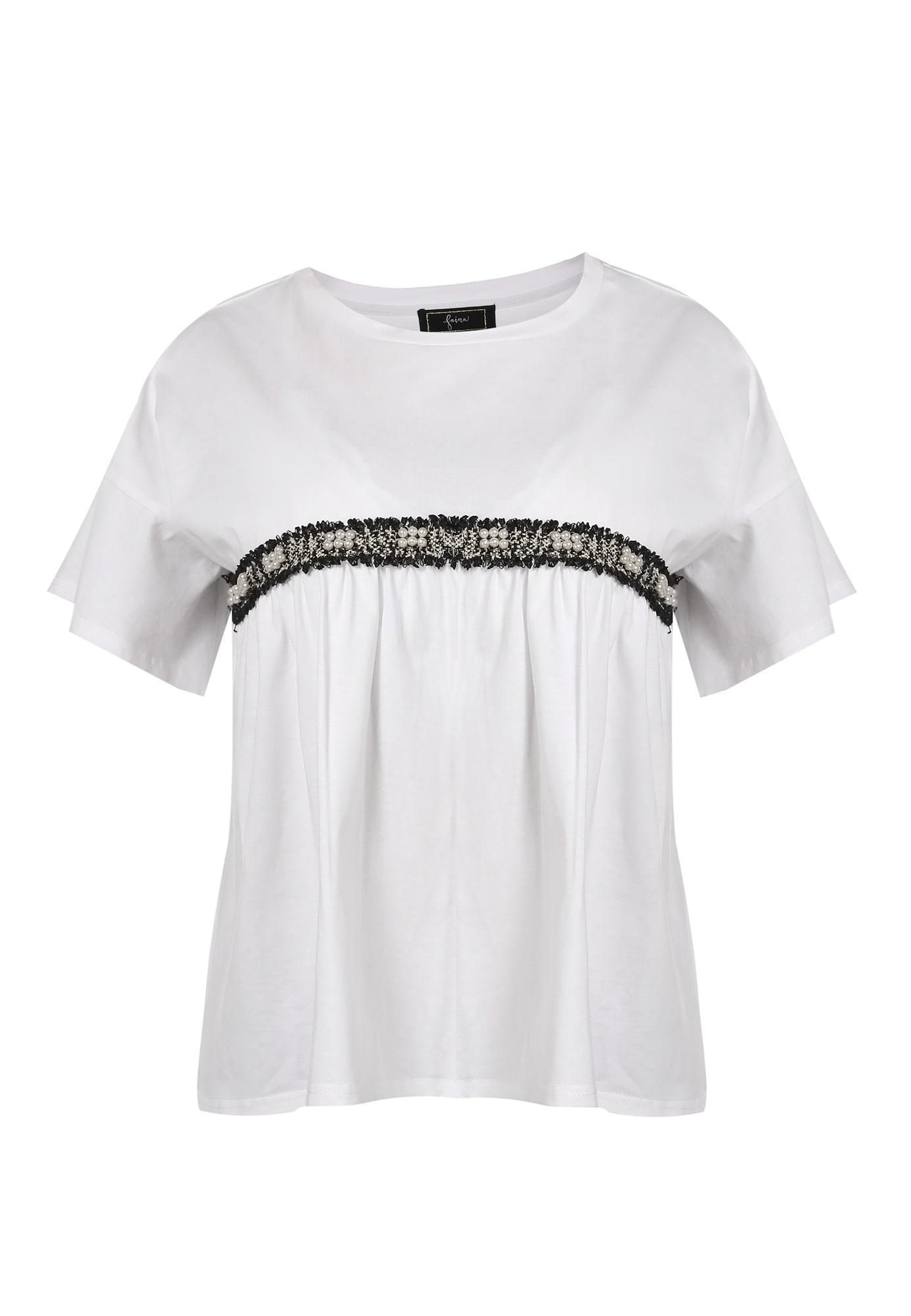 faina Marškinėliai balta / juoda