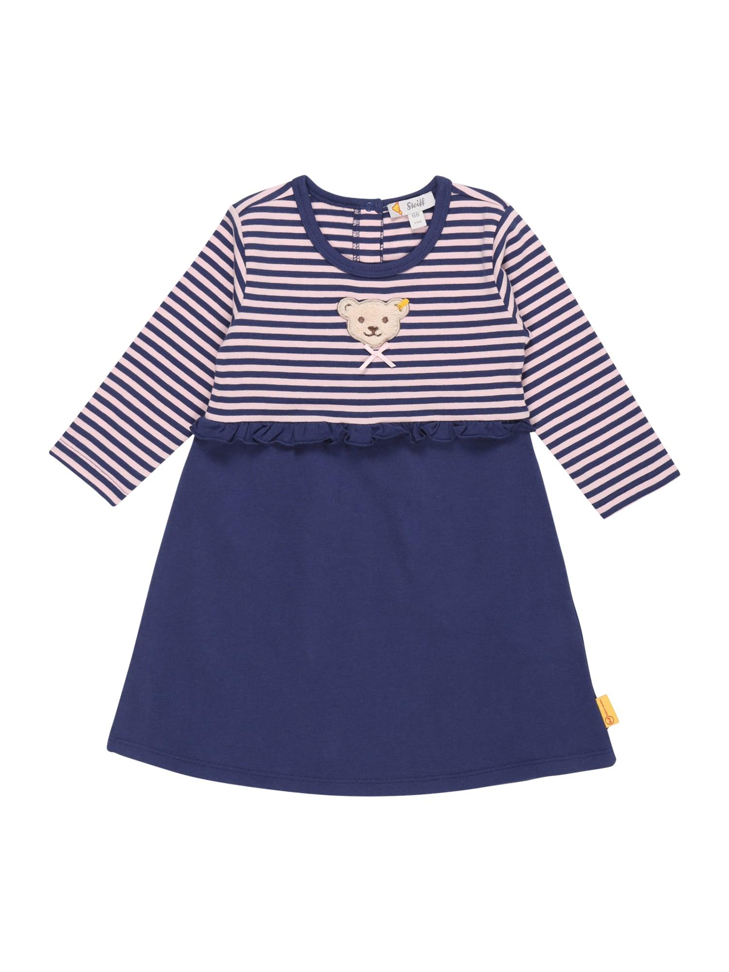 Steiff Collection Suknelė tamsiai mėlyna / pastelinė rožinė / smėlio