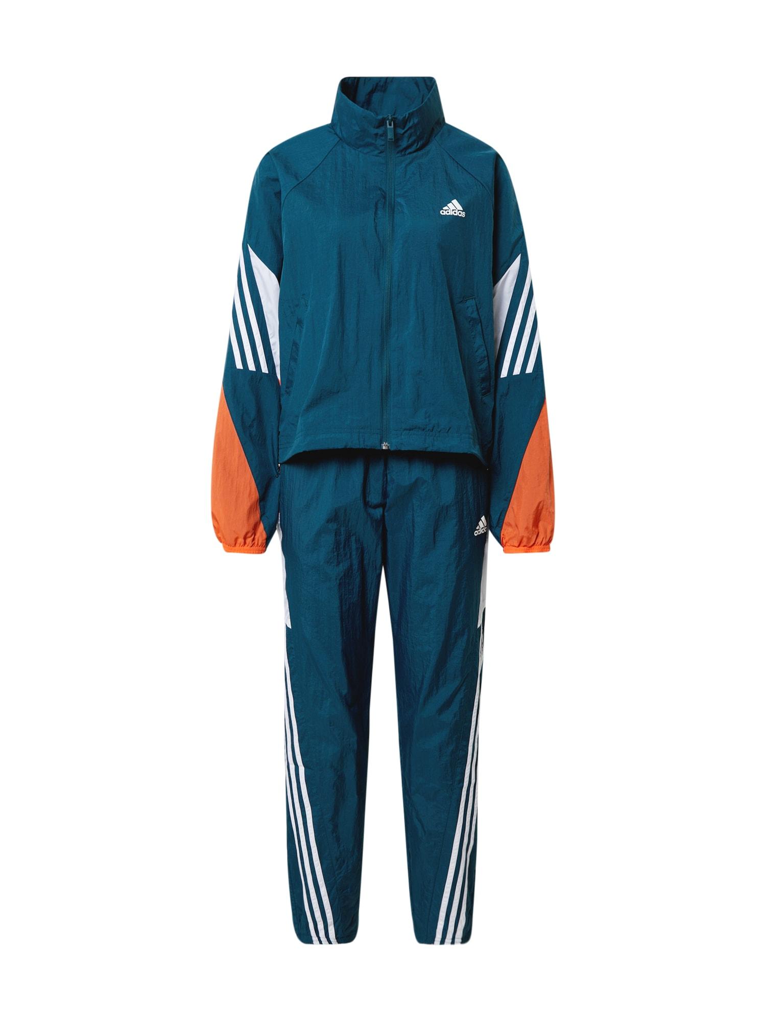 ADIDAS PERFORMANCE Sportinis kostiumas oranžinė / balta / benzino spalva