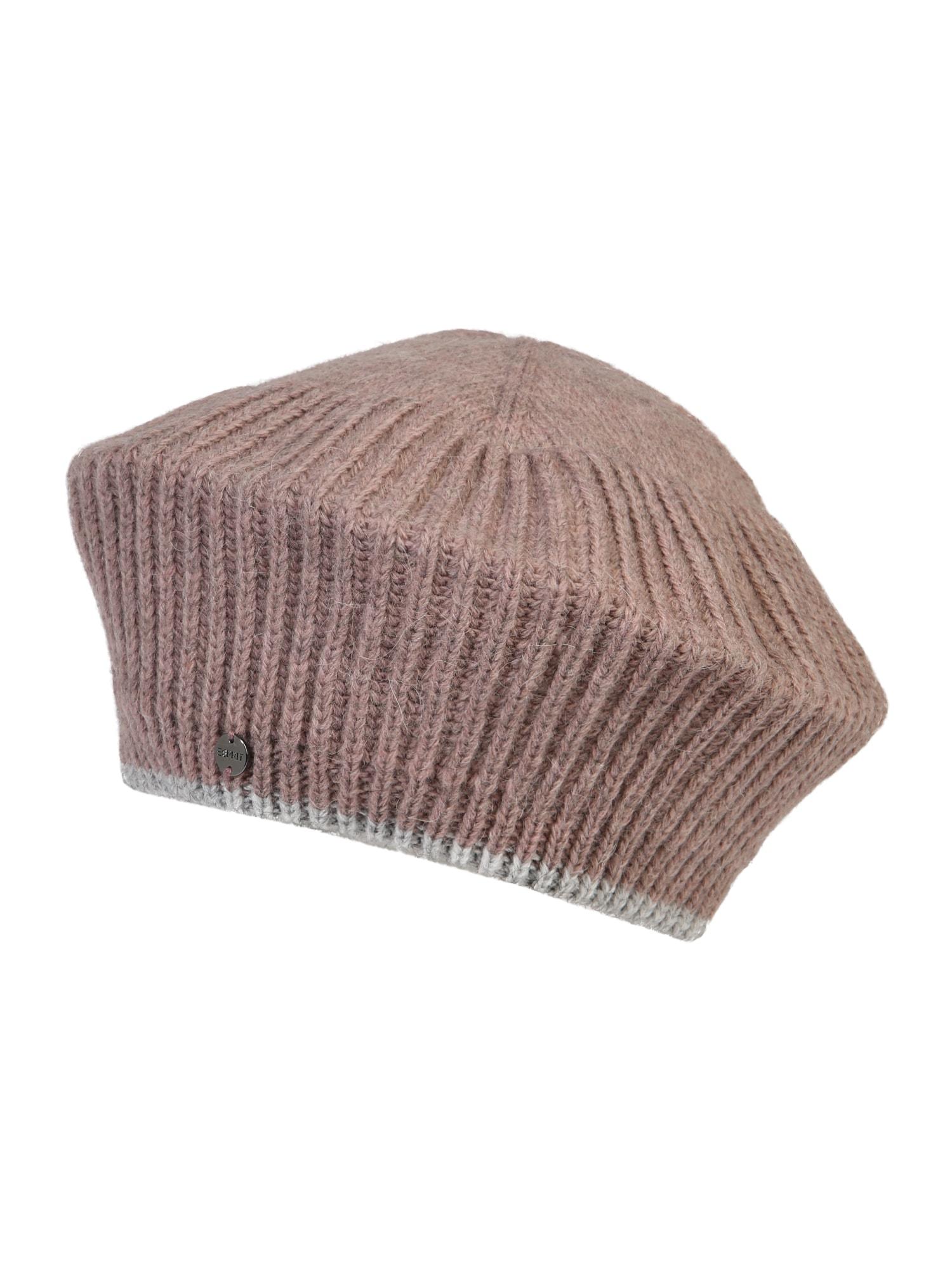 ESPRIT Megzta kepurė smėlio / gelsvai pilka spalva