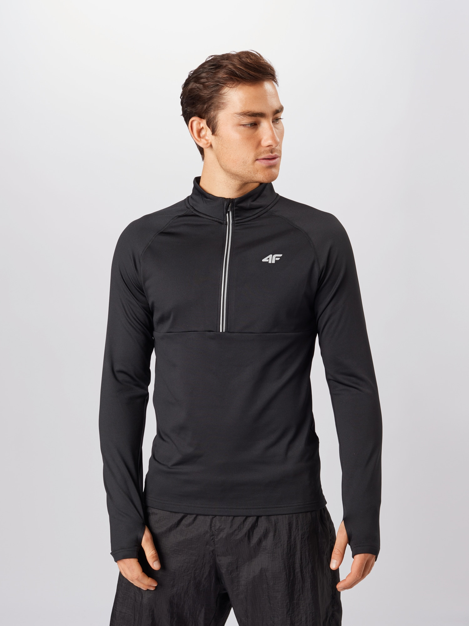 4F Sport sweatshirt  svart / vit