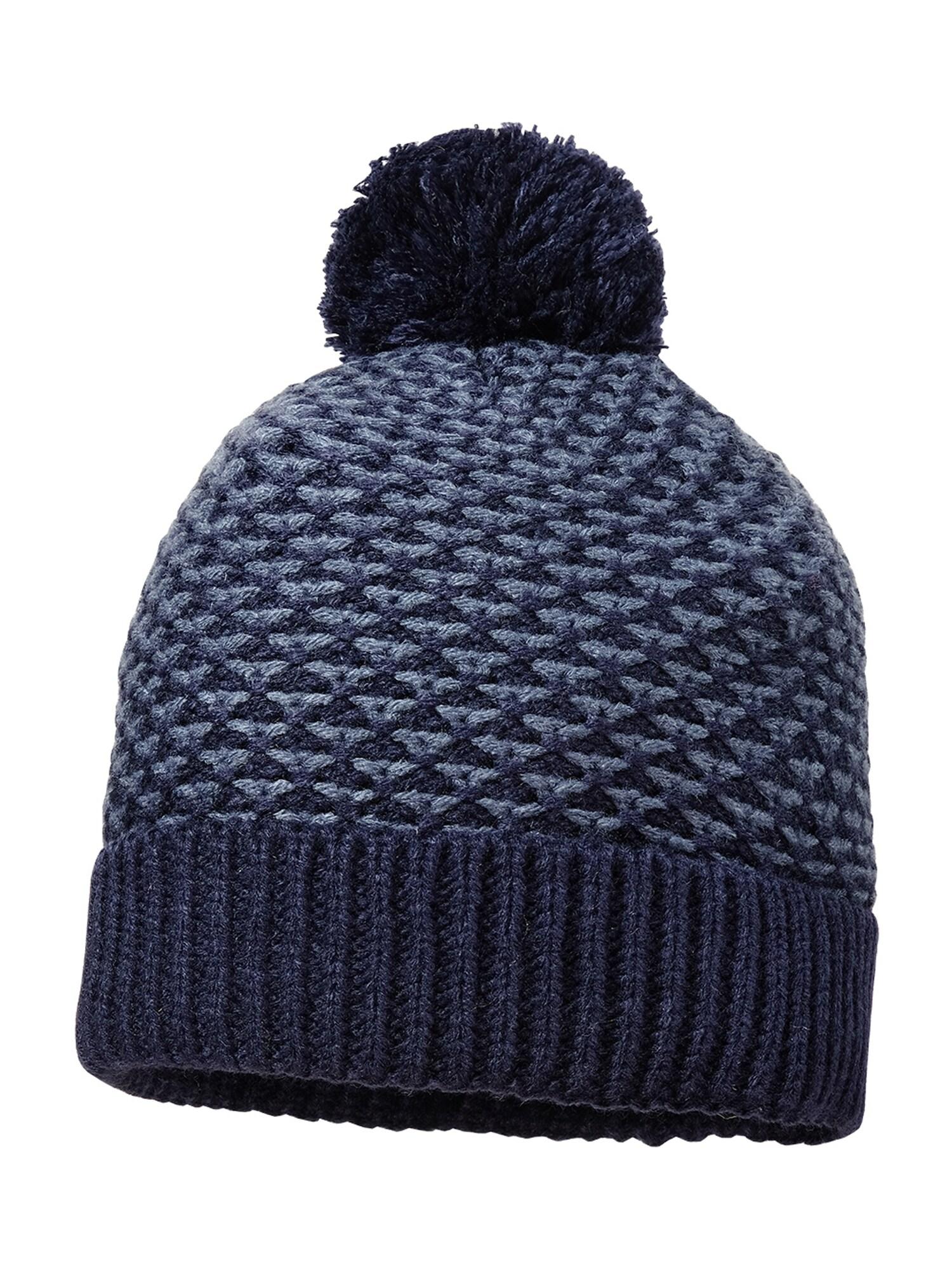 MAXIMO Megzta kepurė melsvai pilka / nakties mėlyna