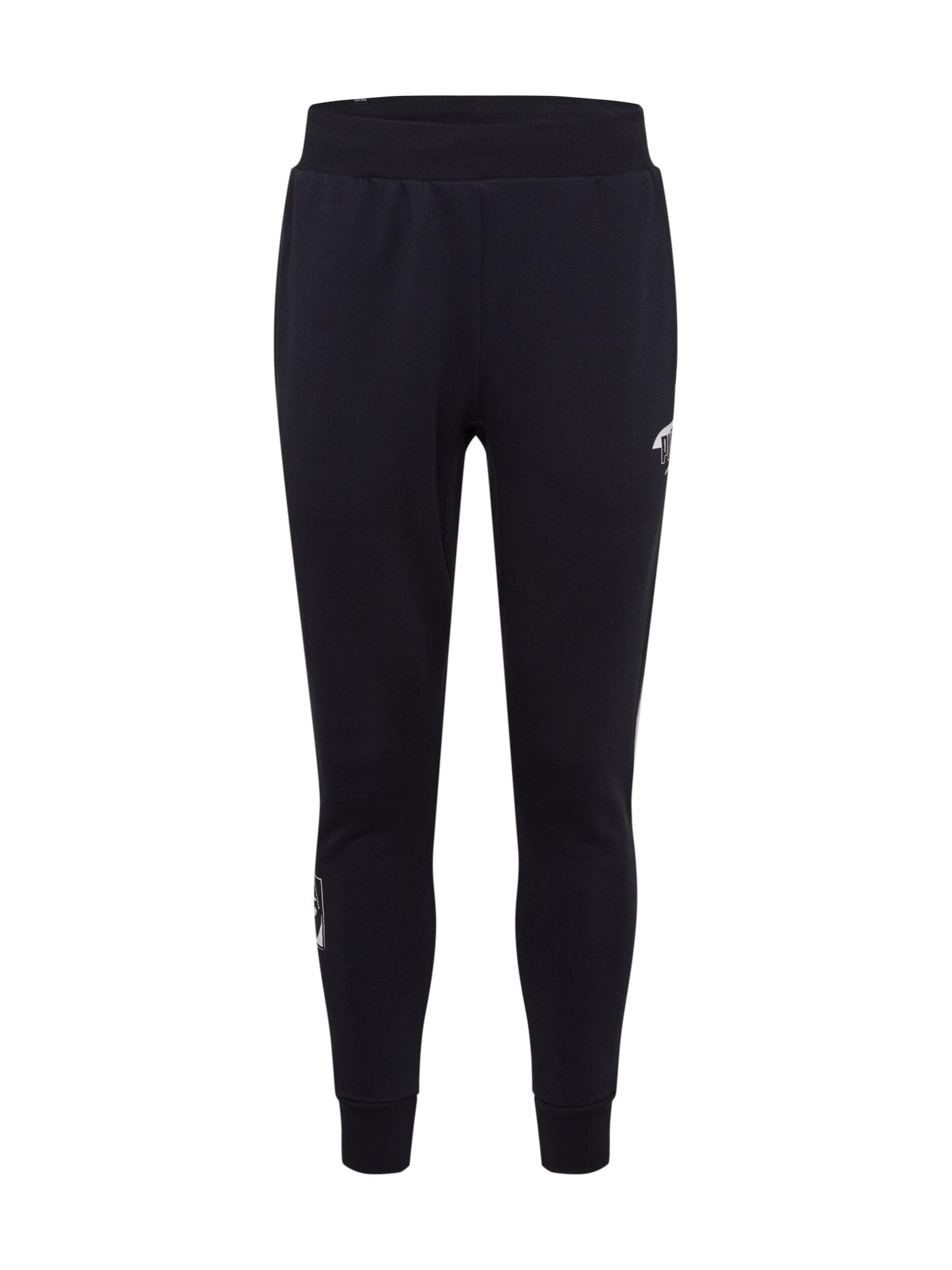PUMA Sportovní kalhoty  černá