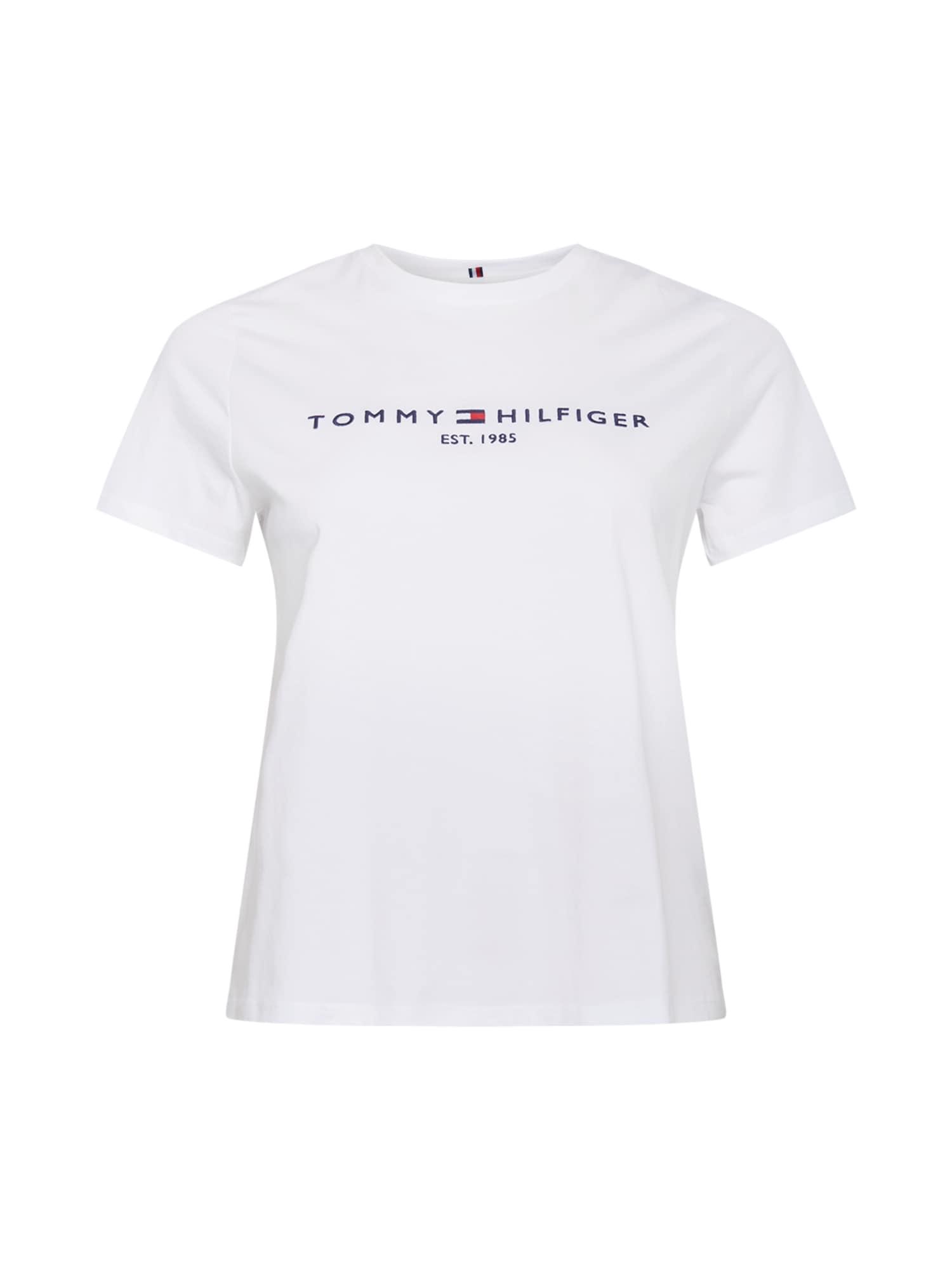 Tommy Hilfiger Curve Marškinėliai balta / tamsiai mėlyna