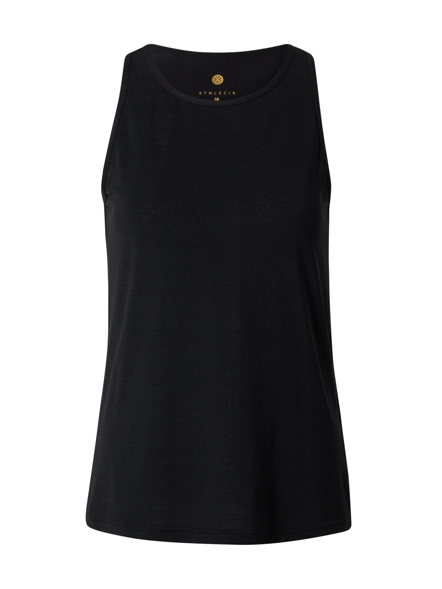 Athlecia Sportiniai marškinėliai be rankovių margai juoda