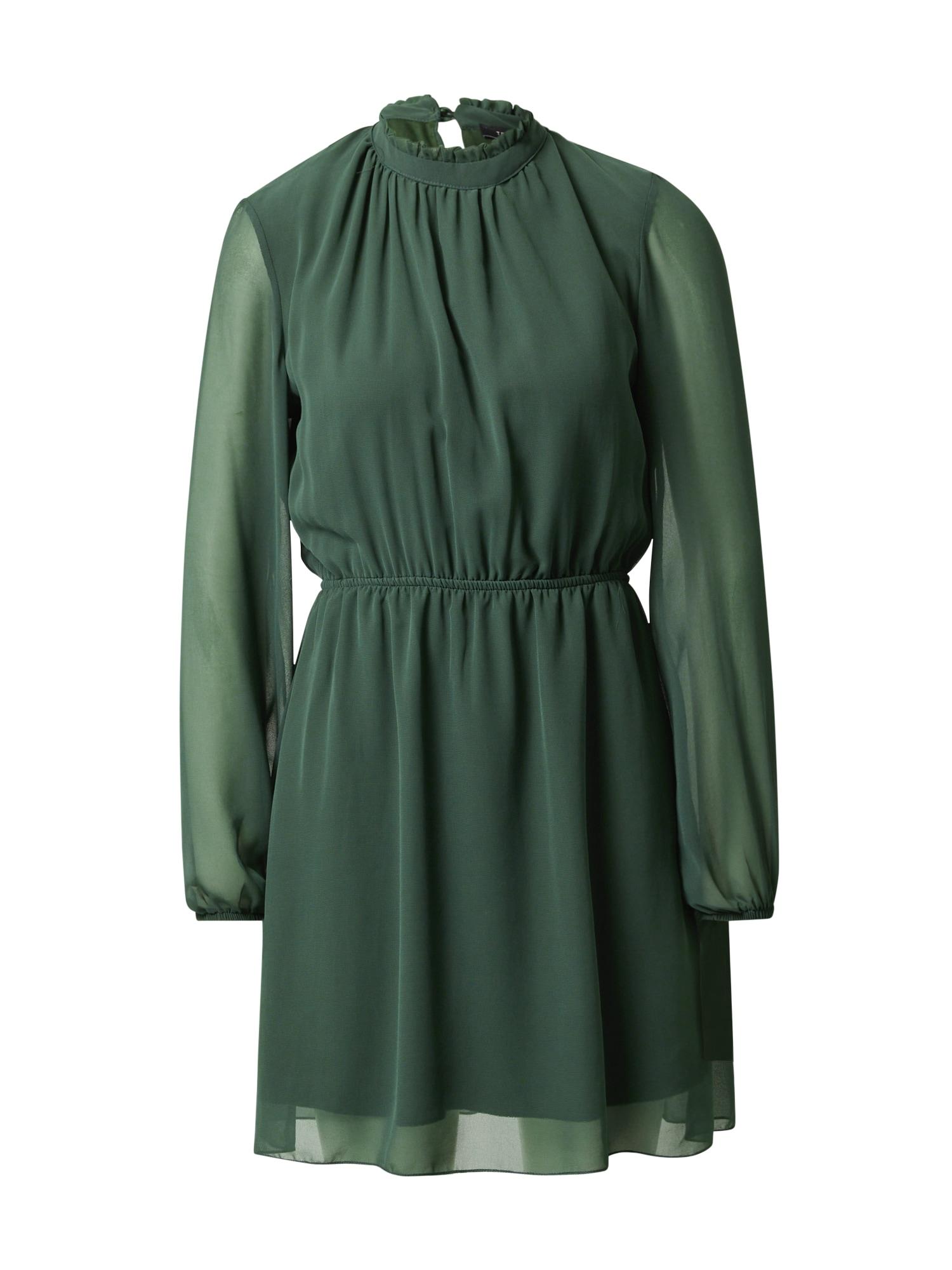 Trendyol Kokteilinė suknelė tamsiai žalia