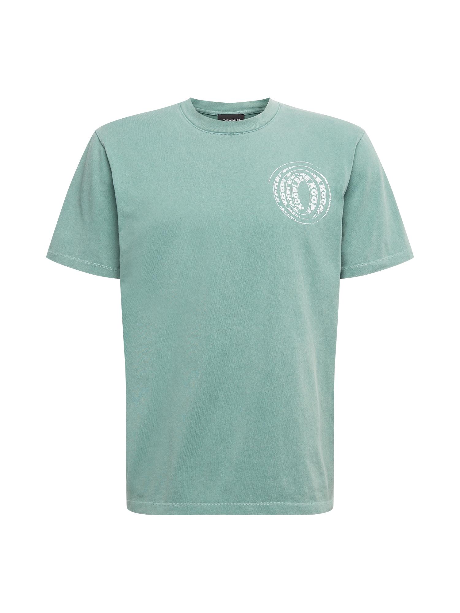 The Kooples Marškinėliai šviesiai žalia / balta