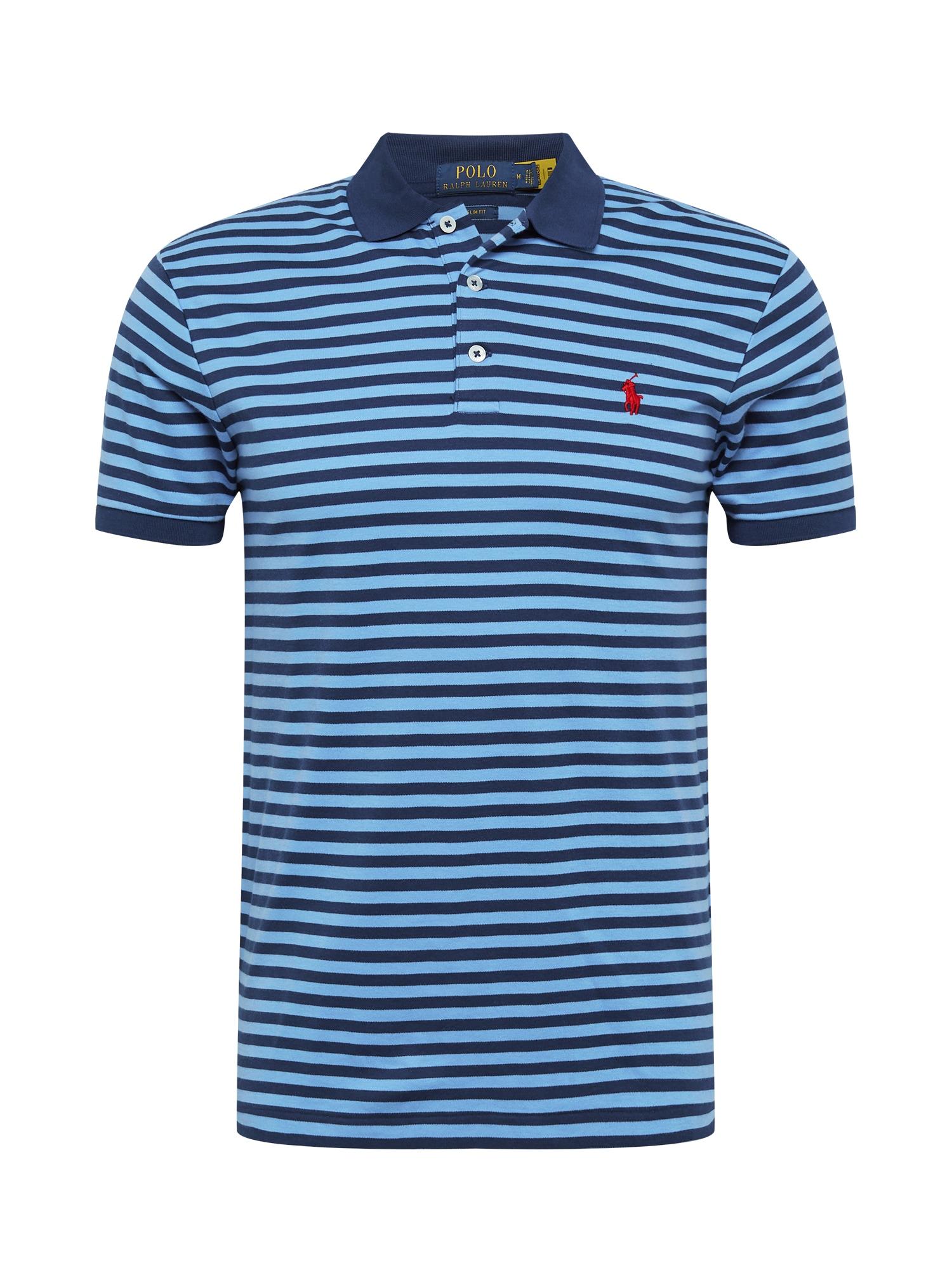 POLO RALPH LAUREN Marškinėliai mėlyna / šviesiai mėlyna