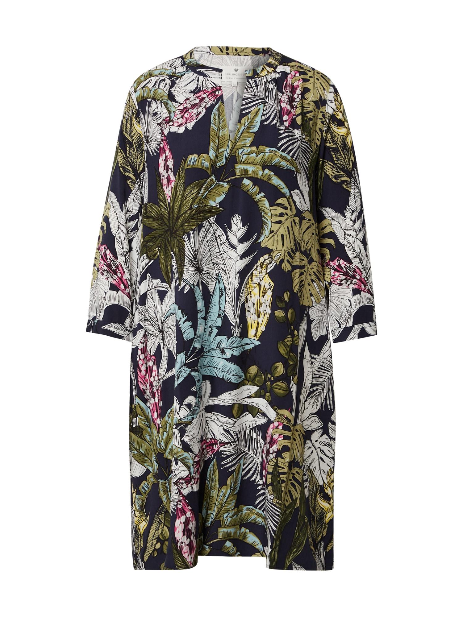 LIEBLINGSSTÜCK Suknelė tamsiai mėlyna / alyvuogių spalva / smėlio / rožinė / mišrios spalvos