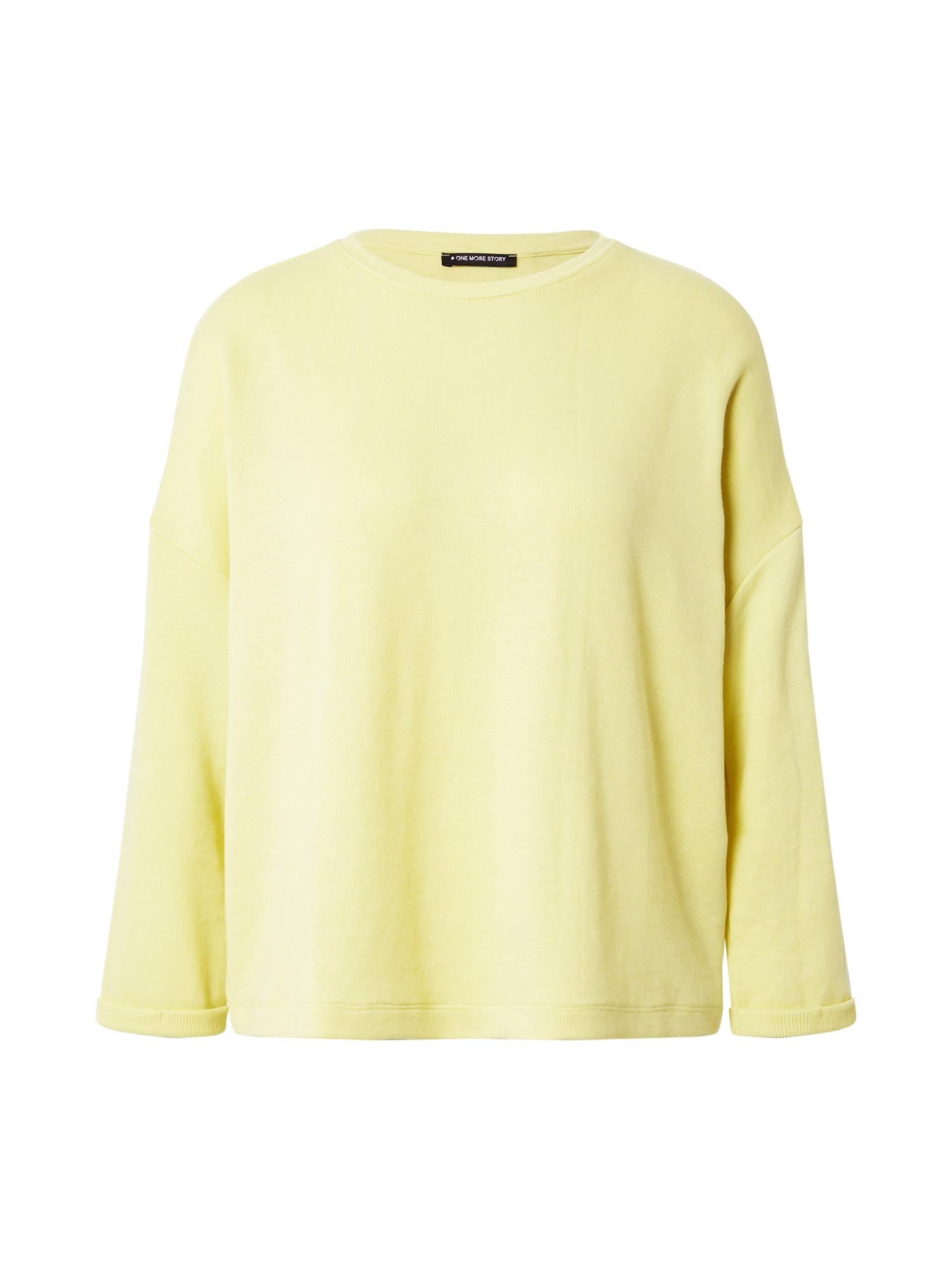 ONE MORE STORY Megztinis be užsegimo šviesiai geltona
