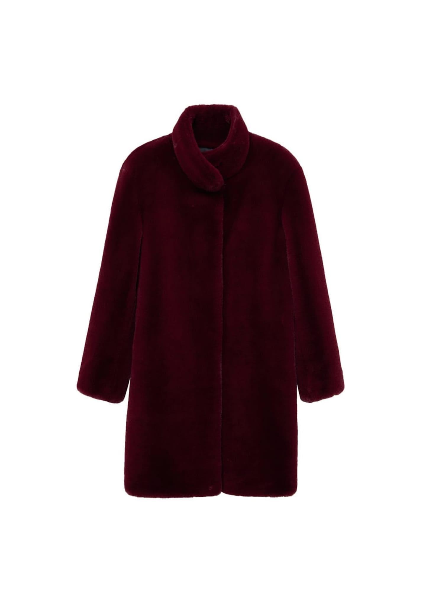 MANGO Přechodný kabát 'Chillyn'  vínově červená