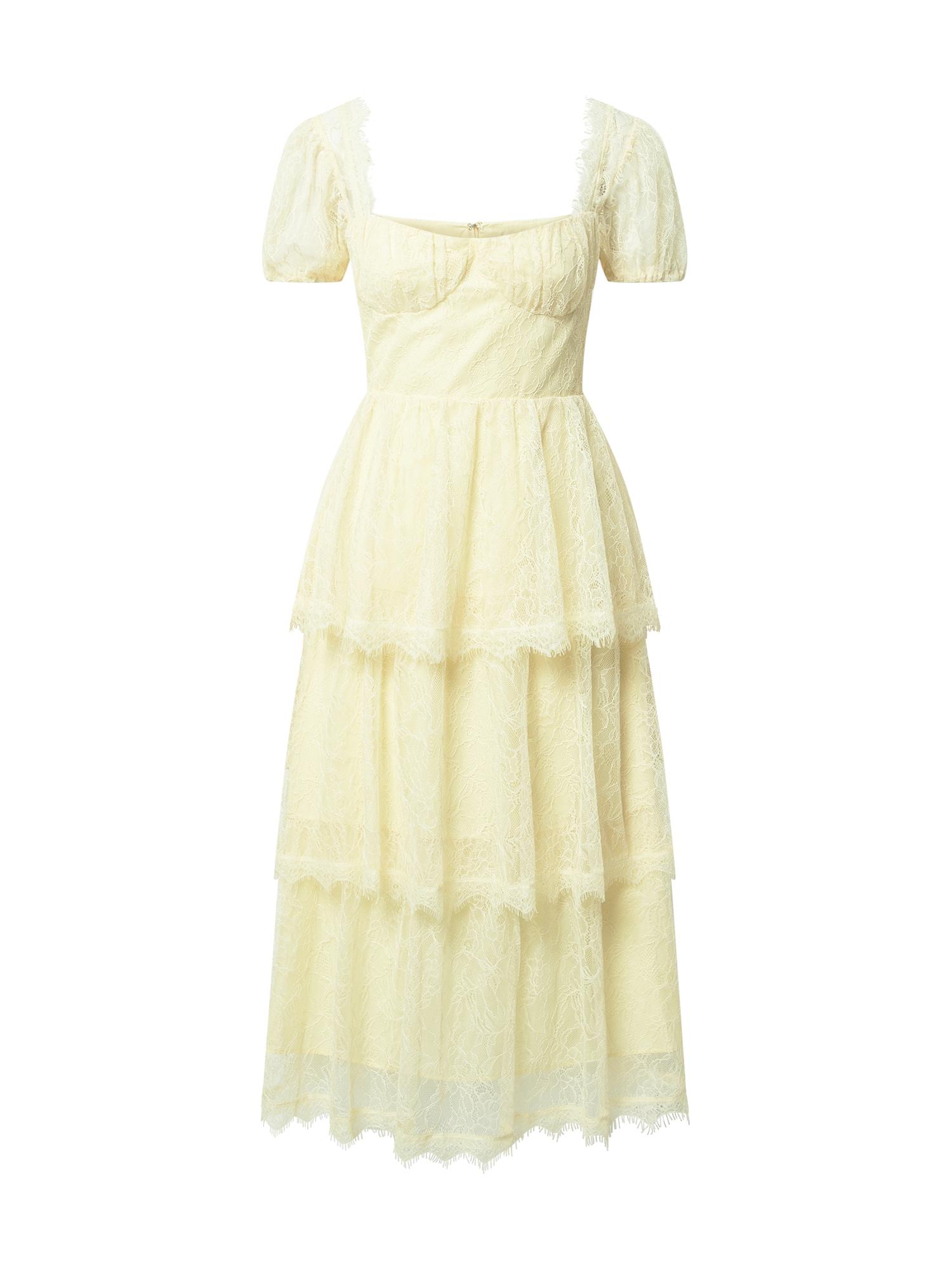 True Decadence Kokteilinė suknelė šviesiai geltona