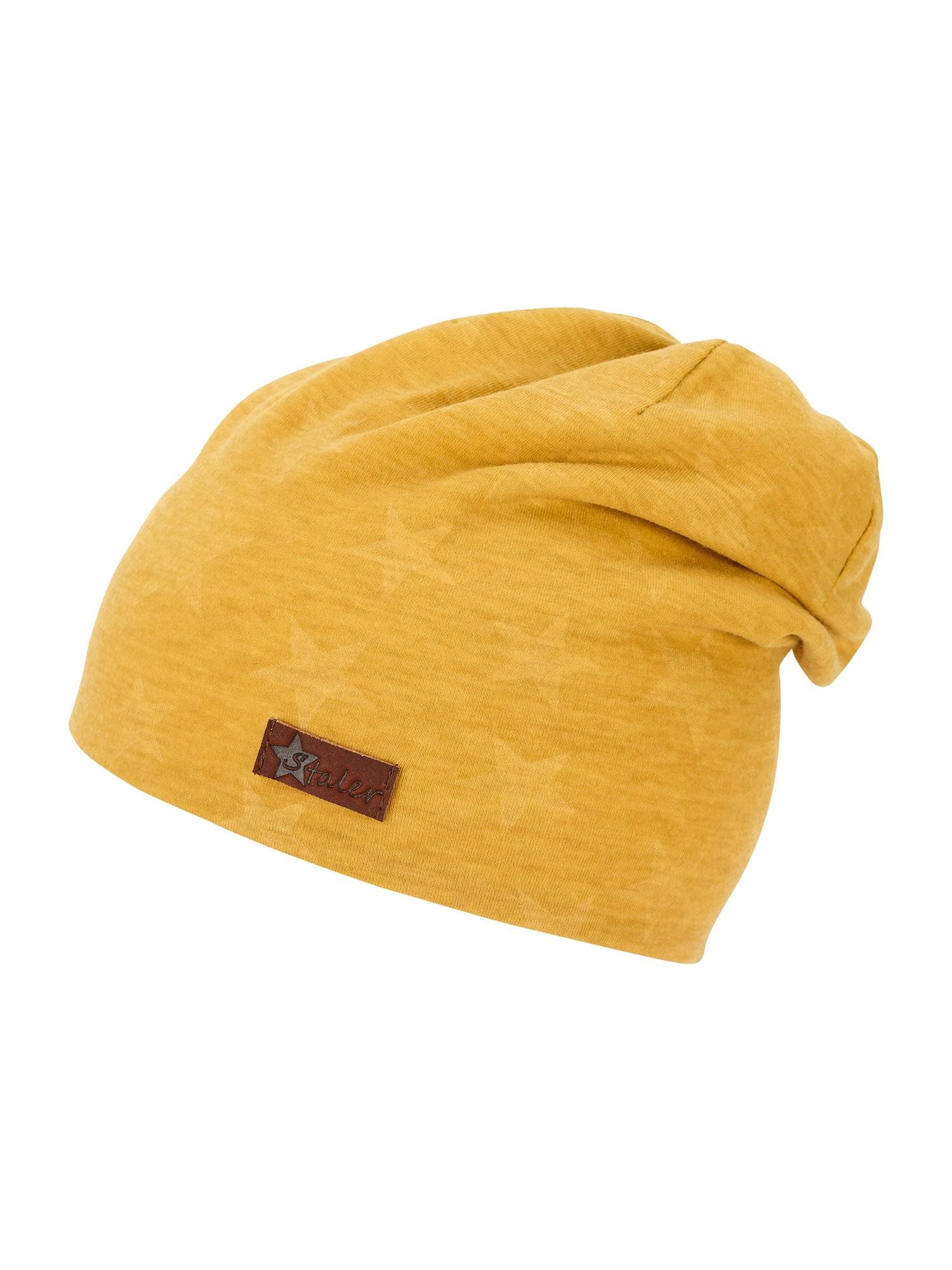 STERNTALER Megzta kepurė geltona