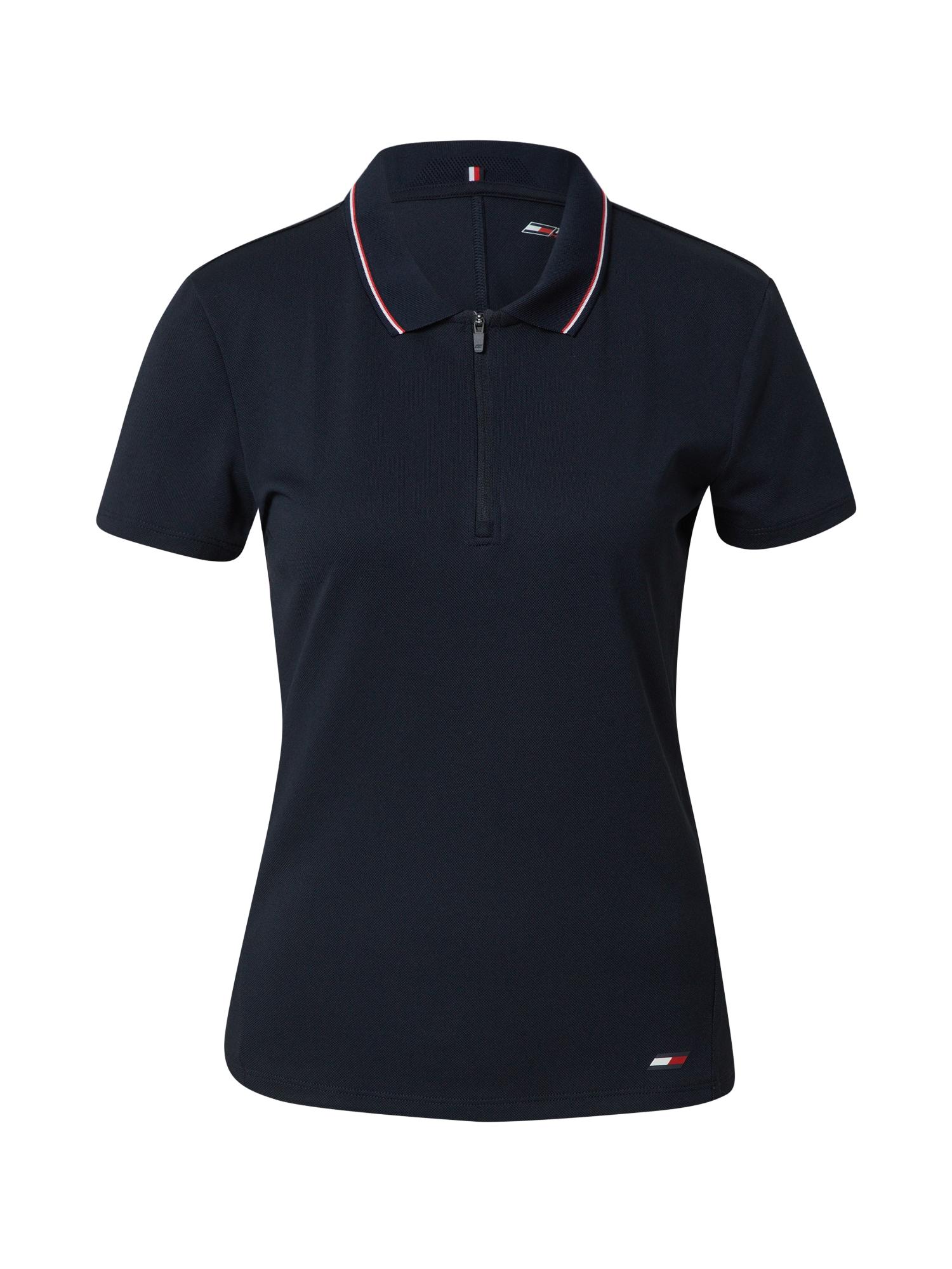 Tommy Sport Sportiniai marškinėliai tamsiai mėlyna / balta / raudona