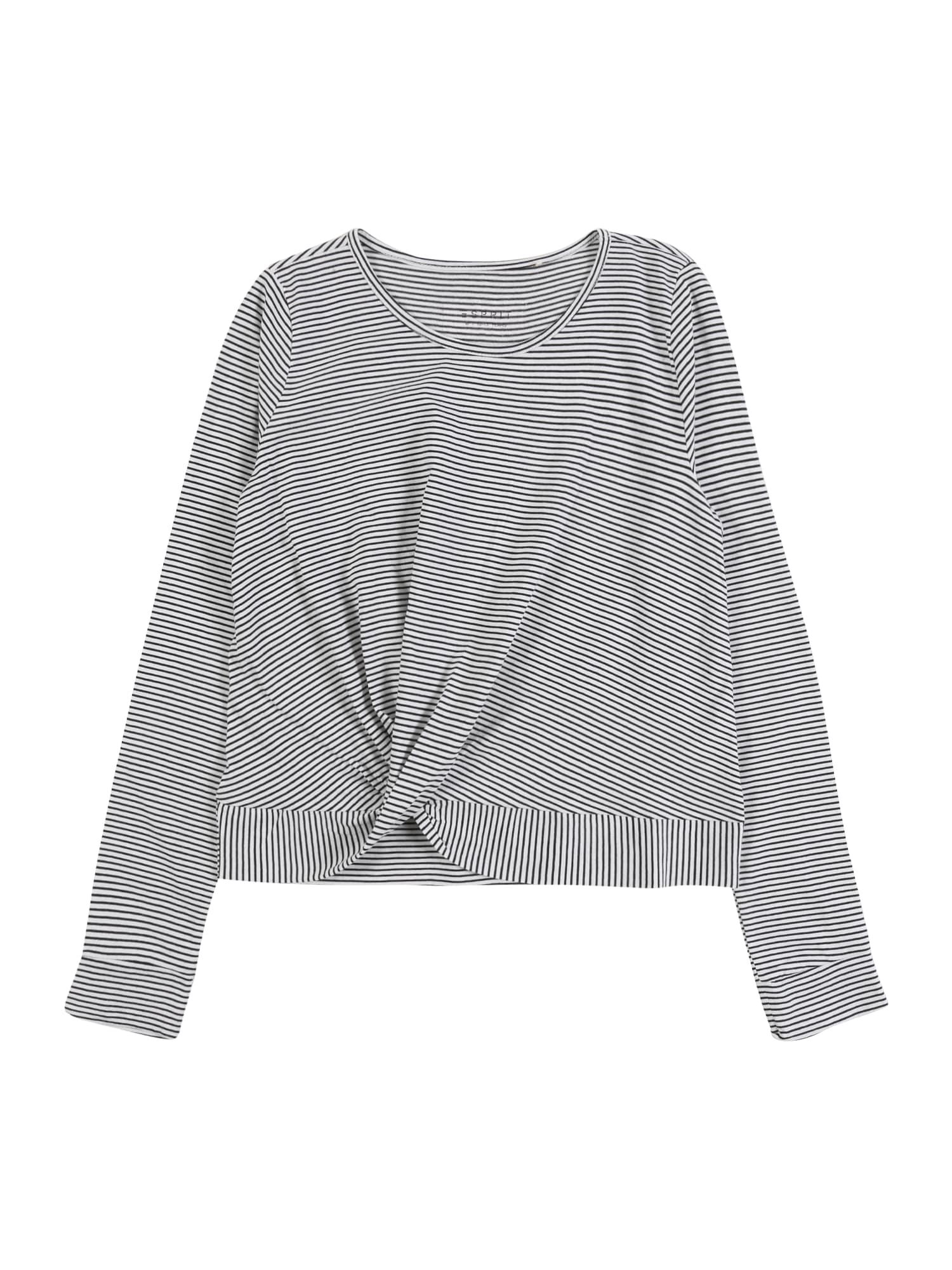 ESPRIT Marškinėliai balta / juoda