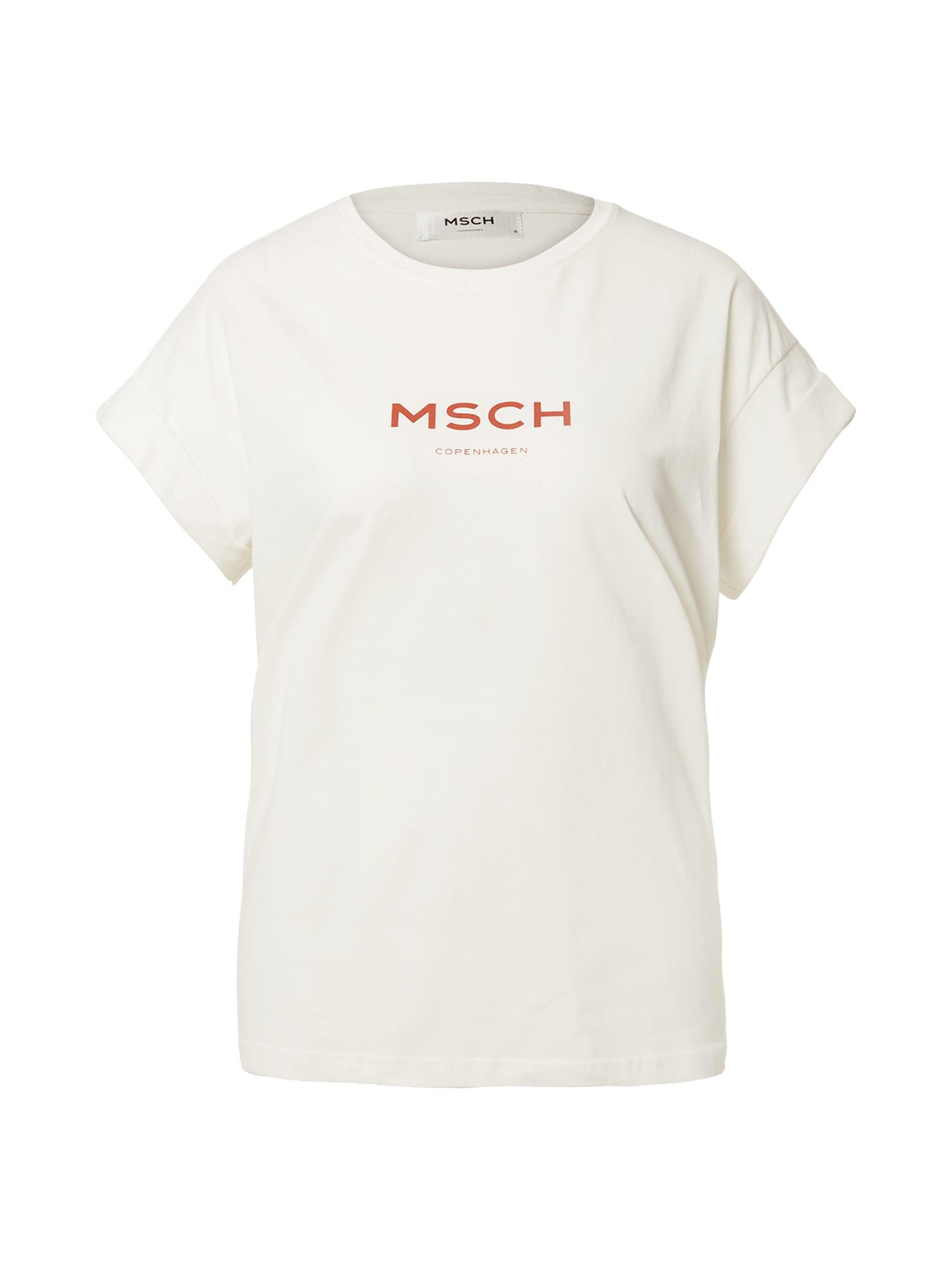 MOSS COPENHAGEN Marškinėliai balta
