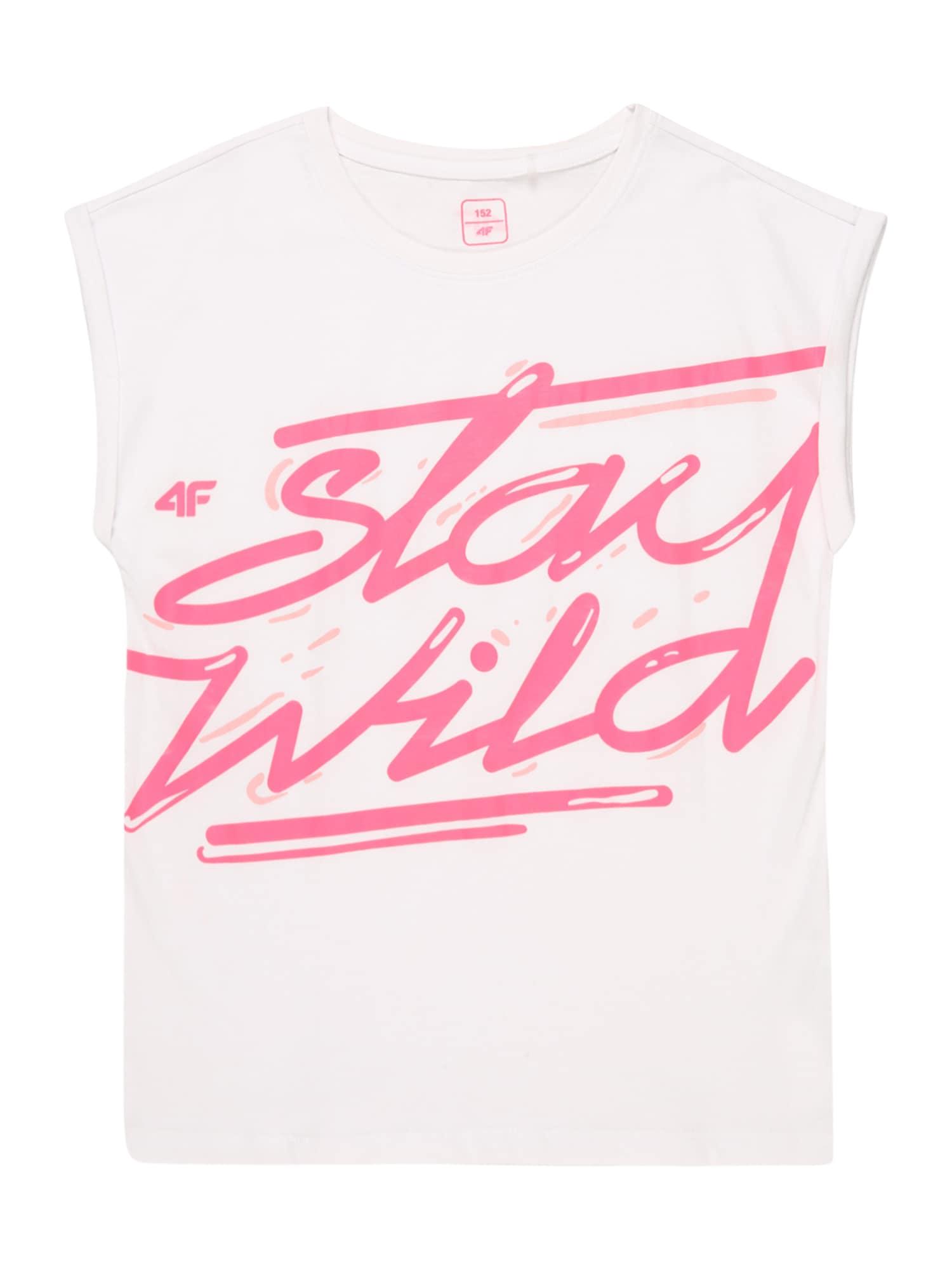 4F Sportiniai marškinėliai be rankovių balta / rožinė