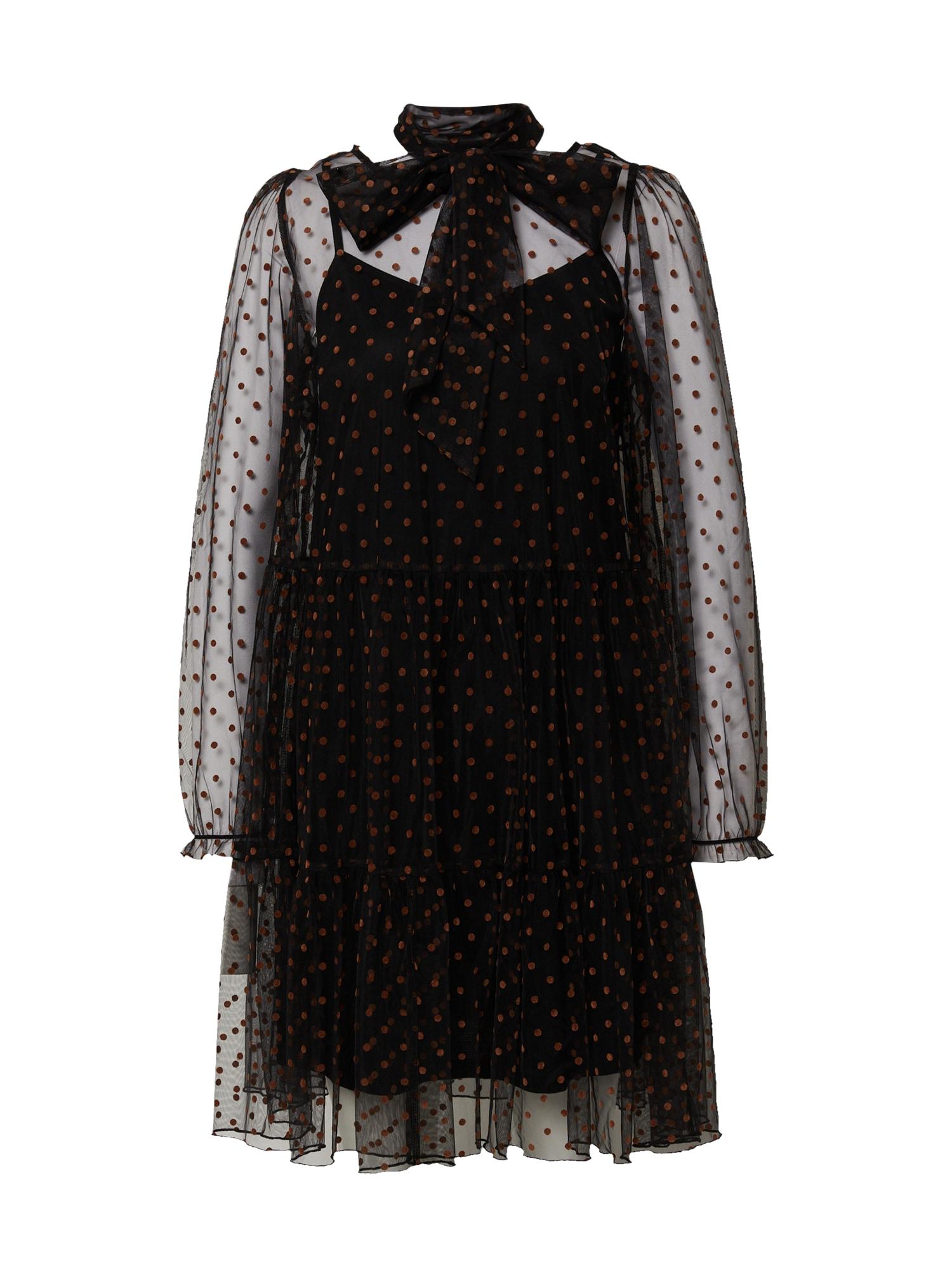 Love Copenhagen Palaidinės tipo suknelė ruda / juoda