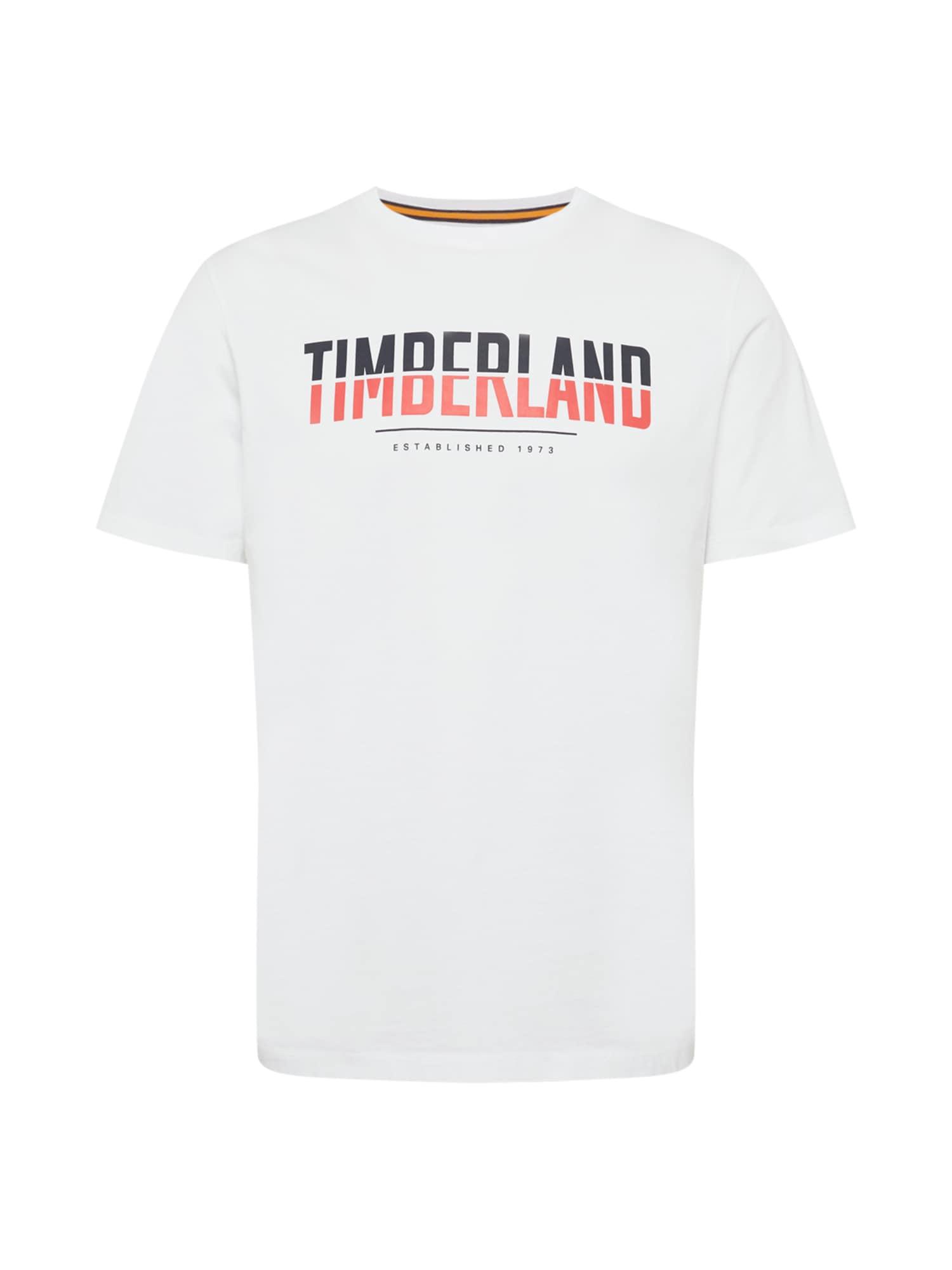 TIMBERLAND Tričko  bílá / námořnická modř / červená