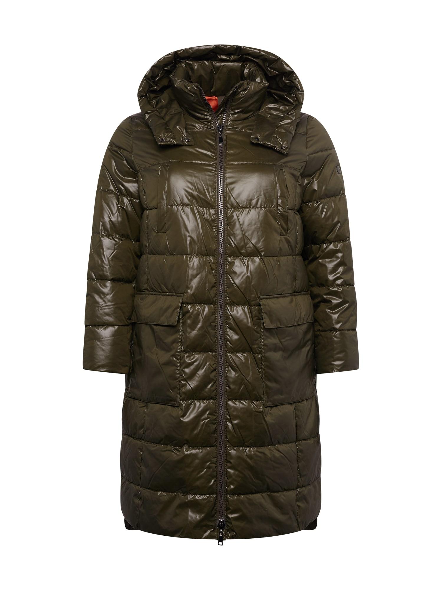 SAMOON Demisezoninis paltas tamsiai žalia