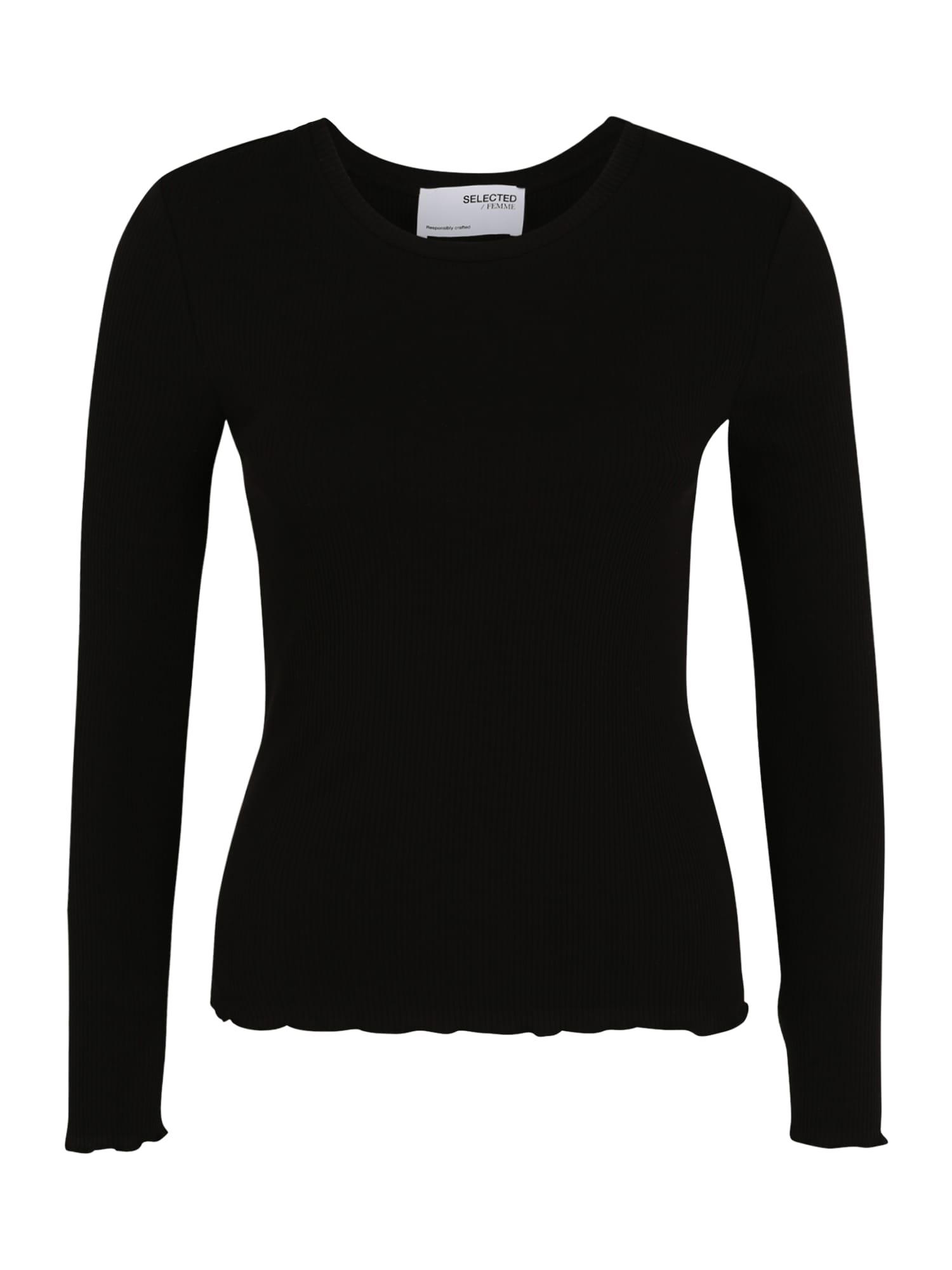 Selected Femme (Petite) Marškinėliai juoda