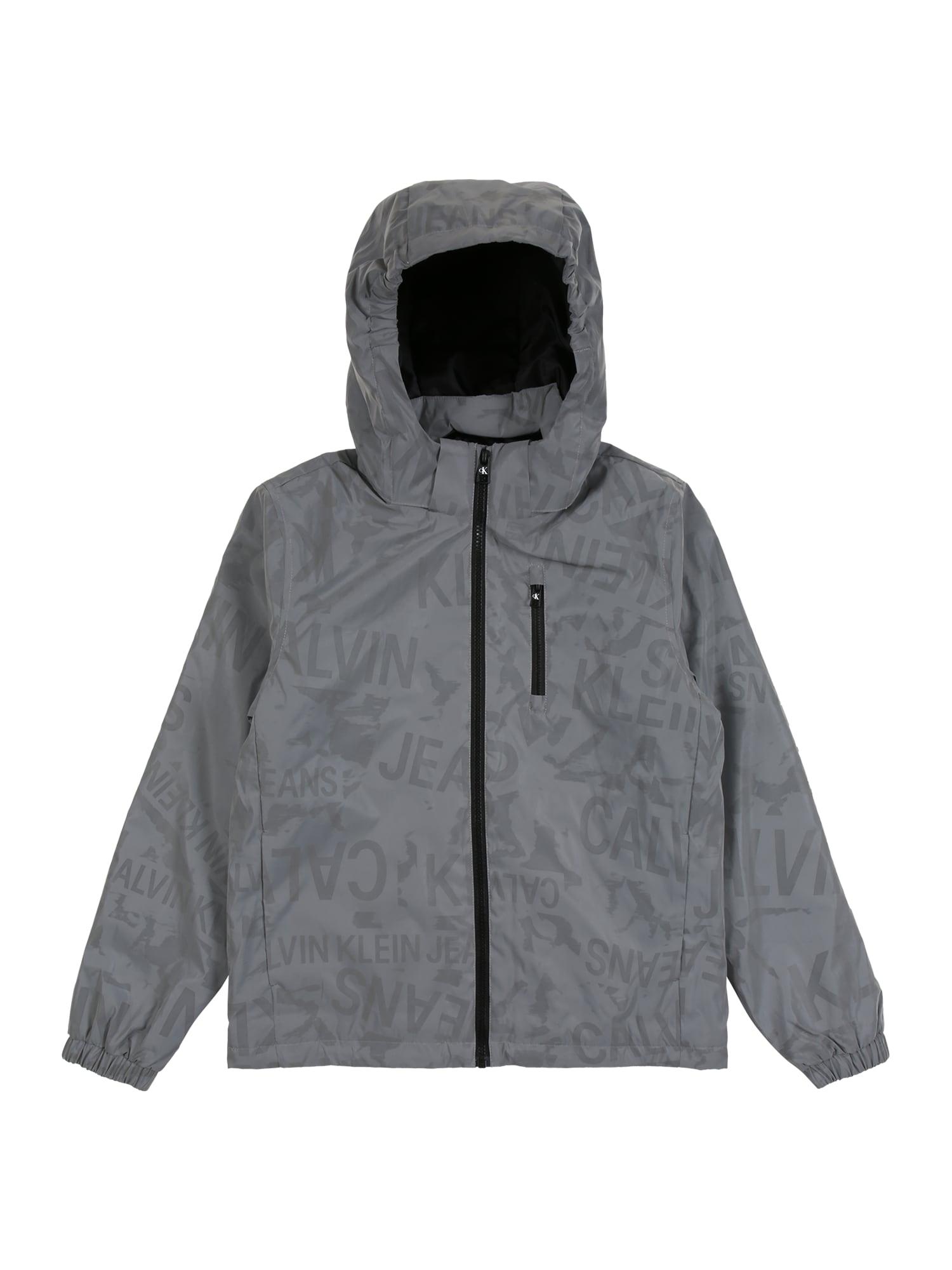 Calvin Klein Jeans Demisezoninė striukė pilka