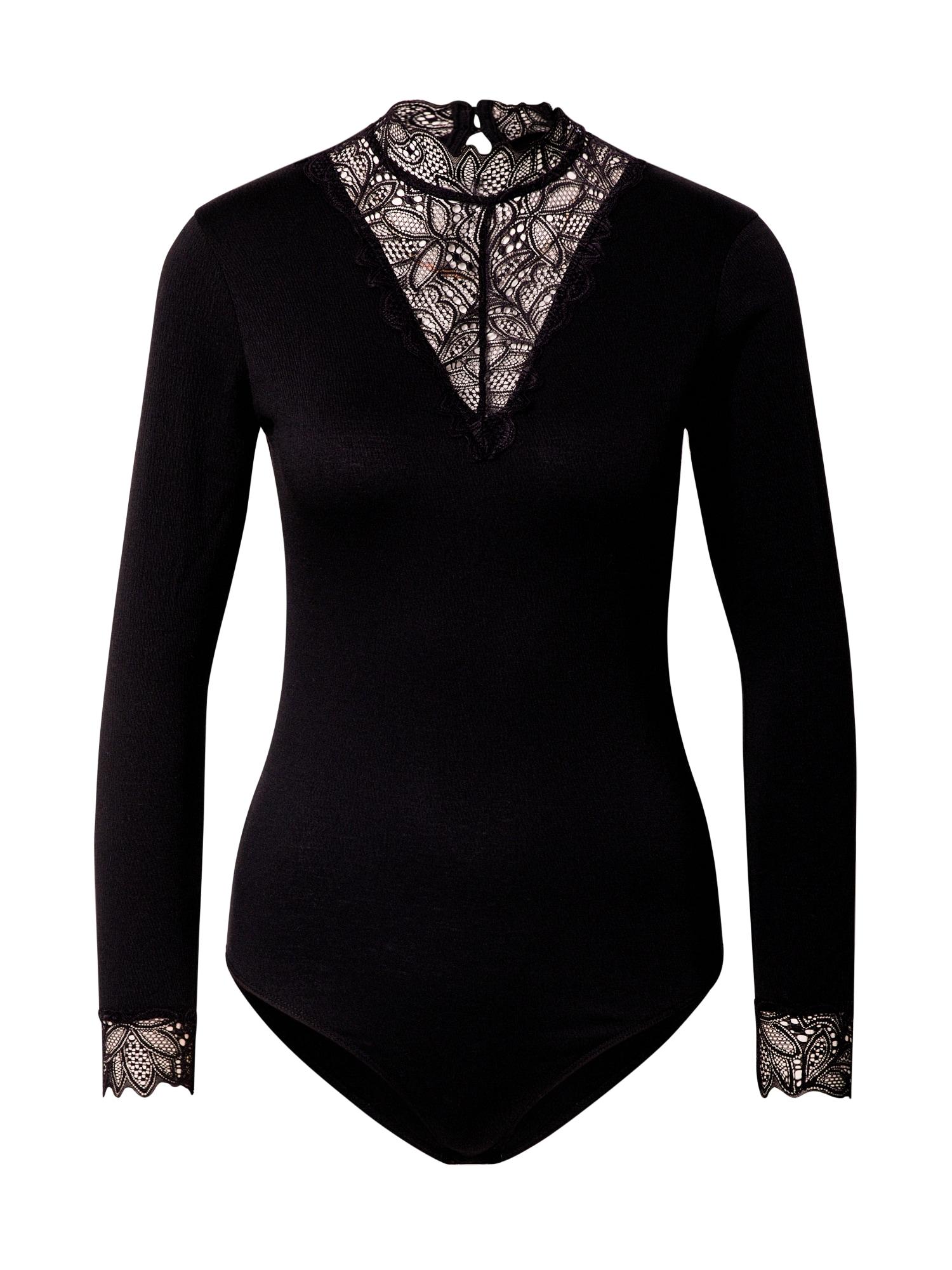 ABOUT YOU Marškinėliai-glaustinukė 'Camilla' juoda