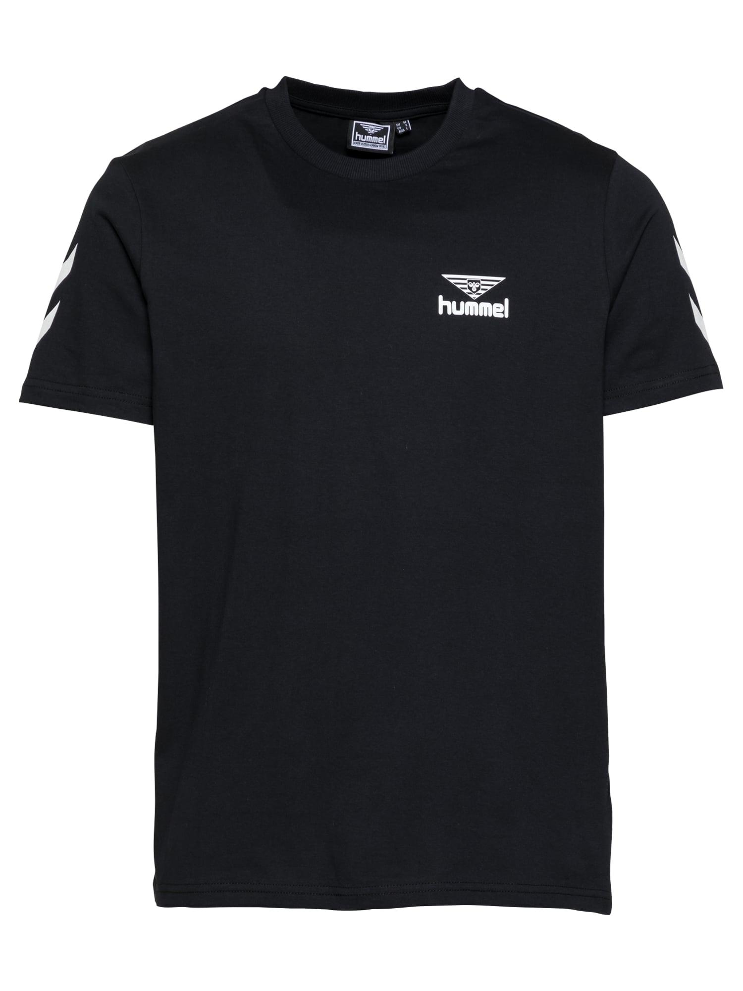 hummel hive Marškinėliai juoda / balta