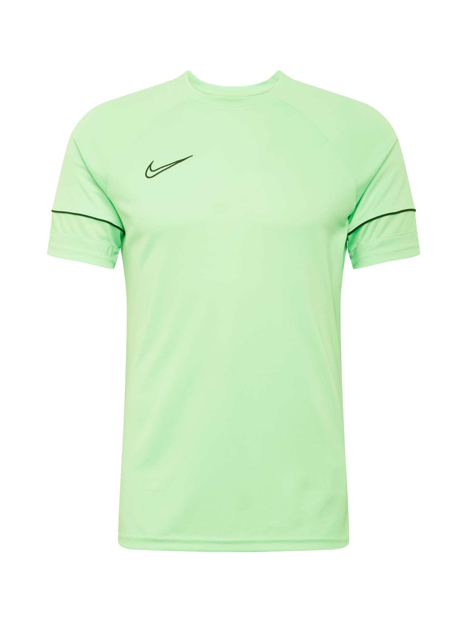 NIKE Sportiniai marškinėliai juoda / neoninė žalia