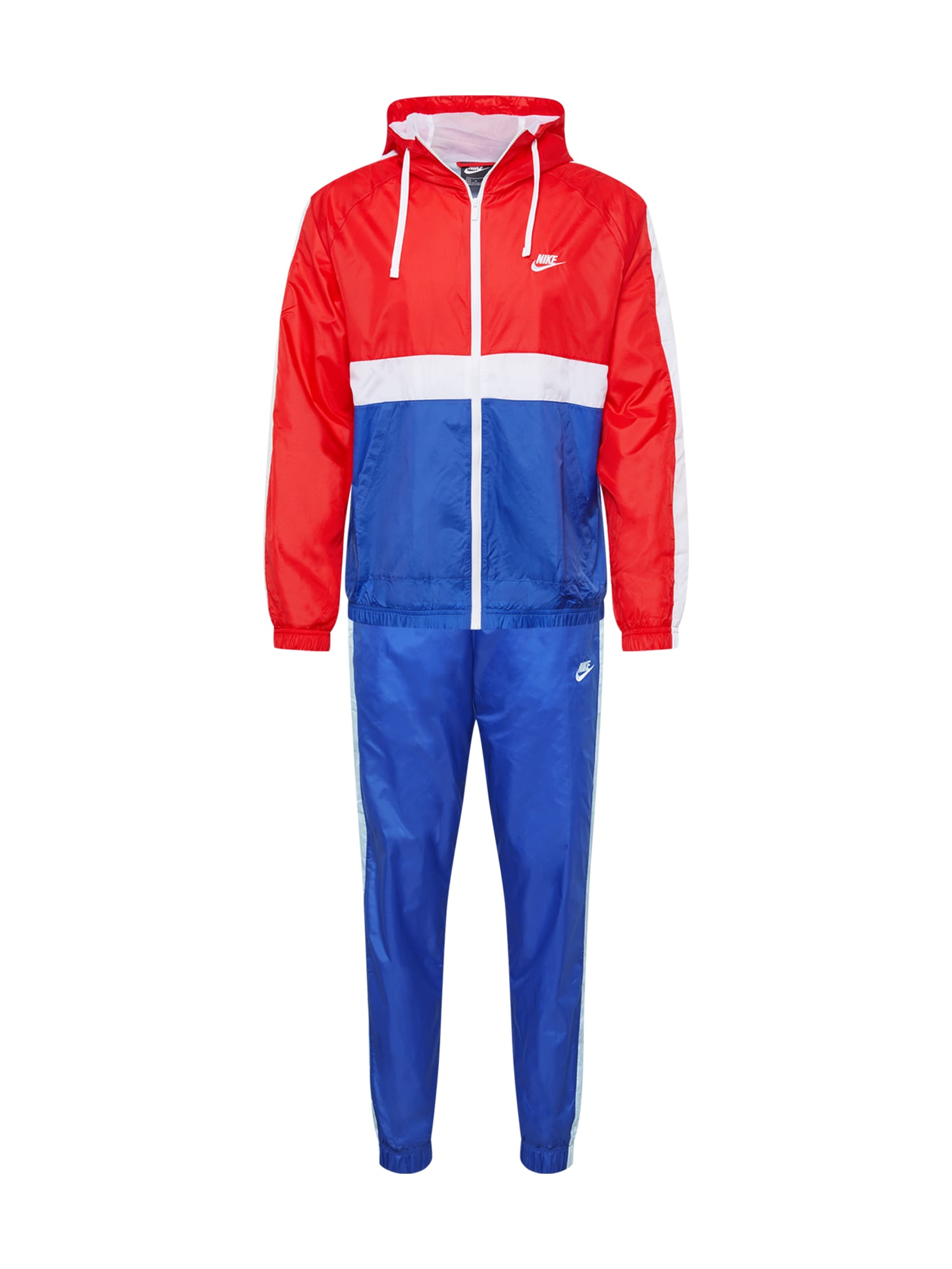 Nike Sportswear Laisvalaikio kostiumas raudona / mėlyna / balta