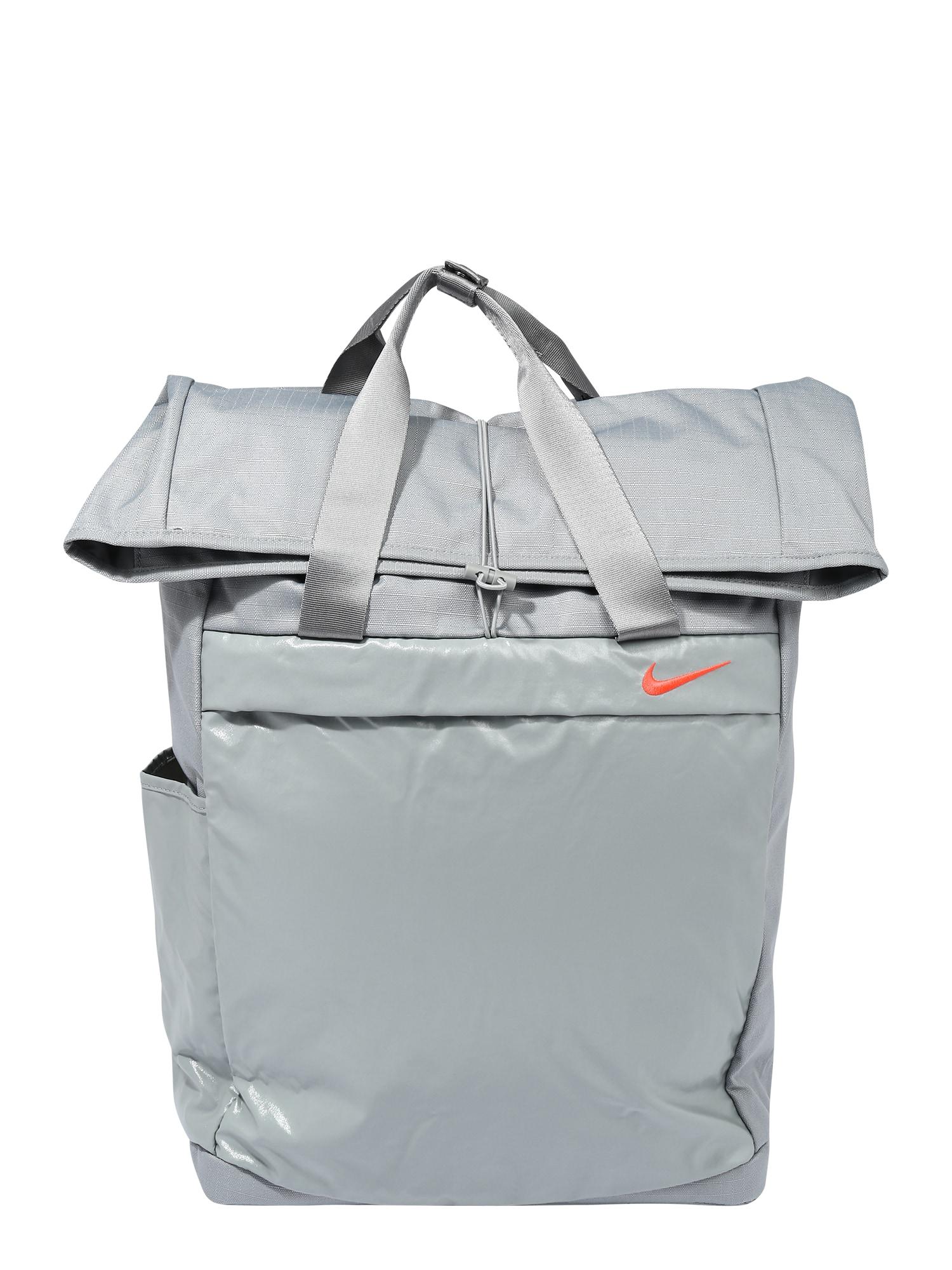 NIKE Sportovní batoh 'Radiate'  šedá / oranžově červená