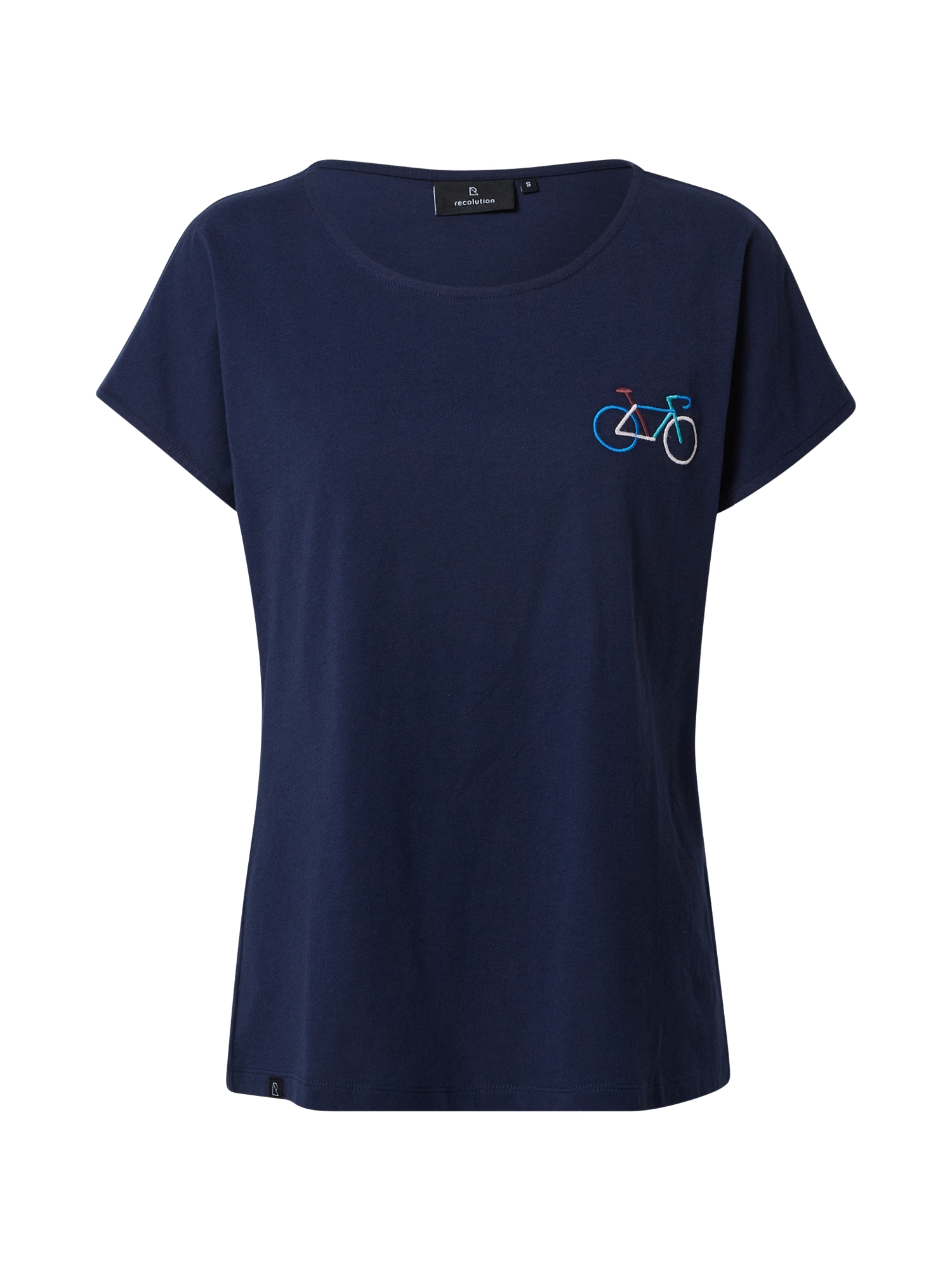 recolution Marškinėliai tamsiai mėlyna / dangaus žydra / balta / vyno raudona spalva