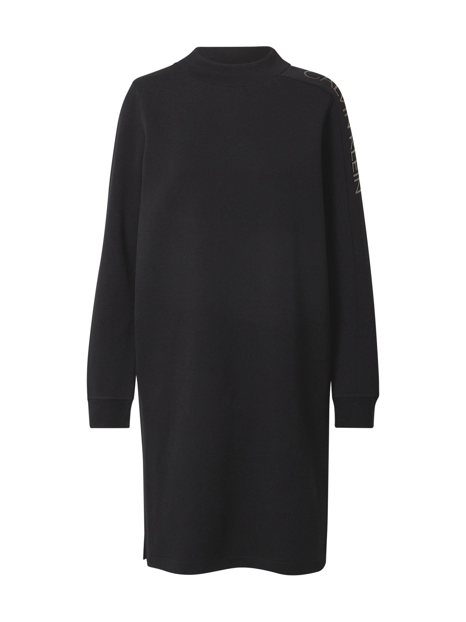Calvin Klein Suknelė juoda / sidabrinė