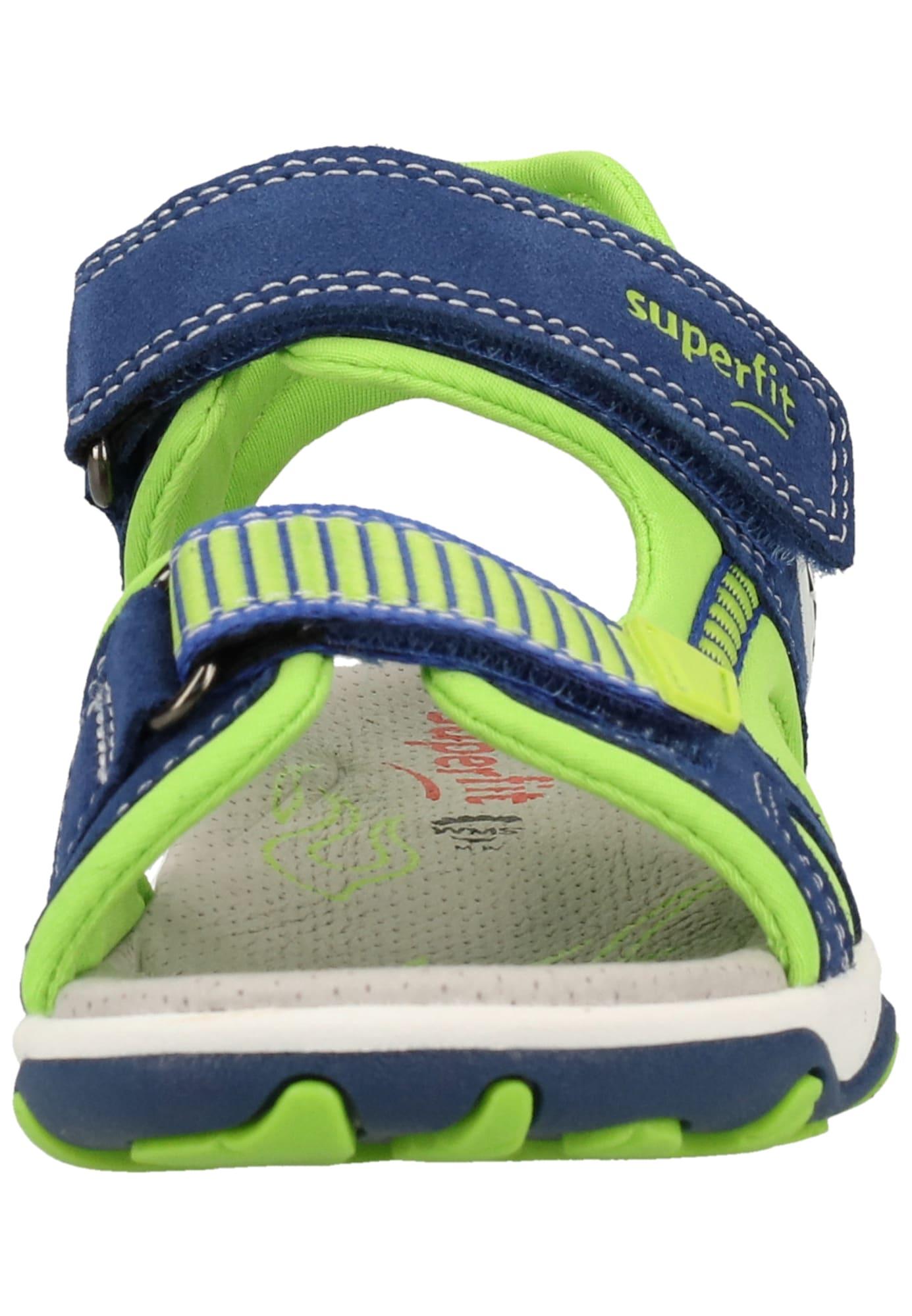 SUPERFIT Otvorená obuv 'MIKE'  neónovo zelená / modrá.