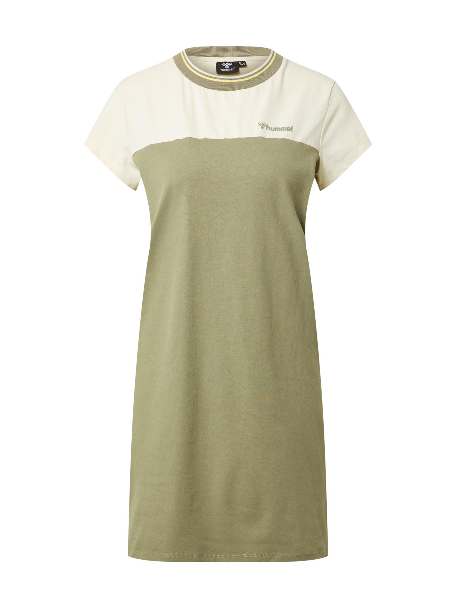 Hummel Sportinė suknelė 'Nahla' balta / rusvai žalia