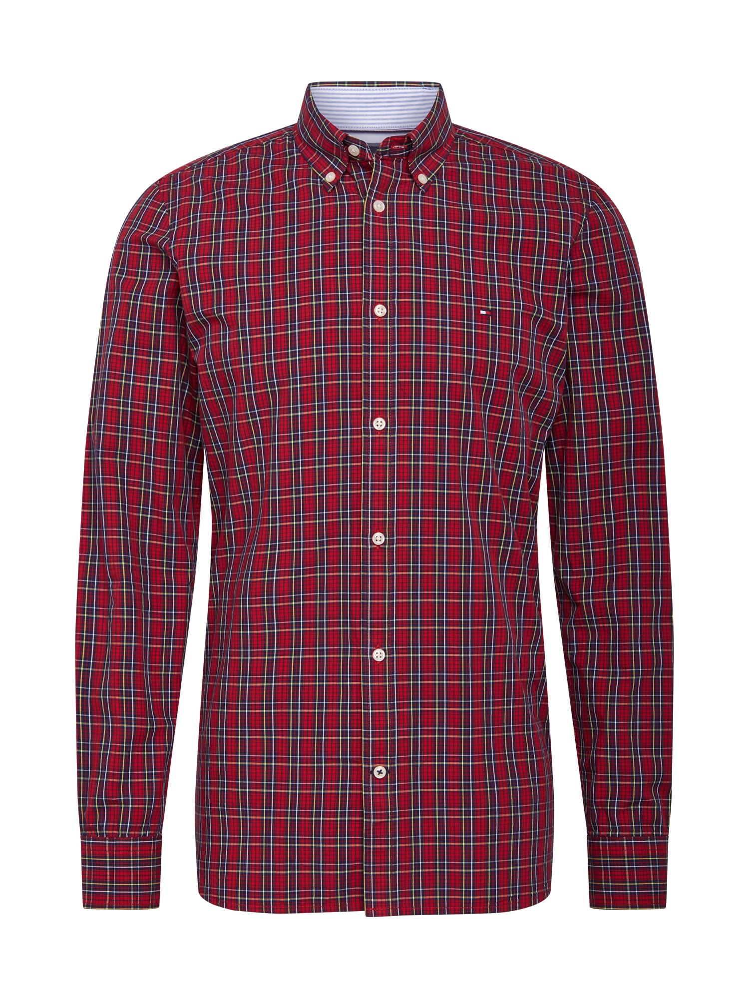 TOMMY HILFIGER Košile 'TARTAN'  červená / černá / bílá