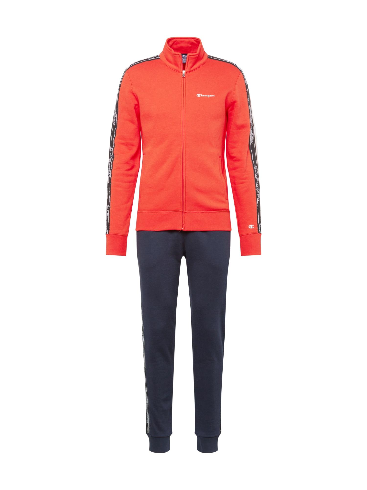 Champion Authentic Athletic Apparel Joggingová souprava  námořnická modř / oranžově červená