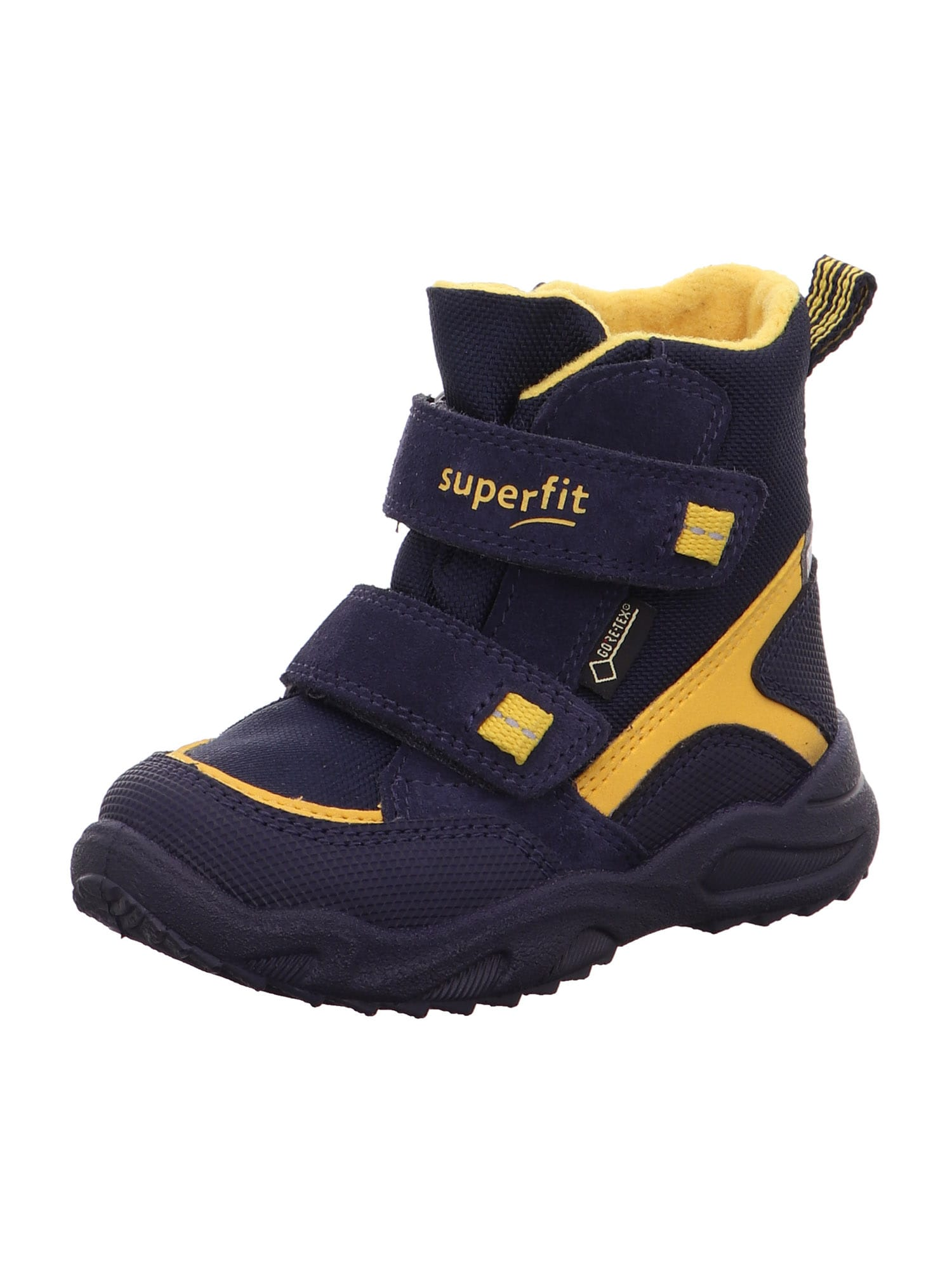 SUPERFIT Auliniai batai su kulniuku 'GLACIER' geltona / nakties mėlyna