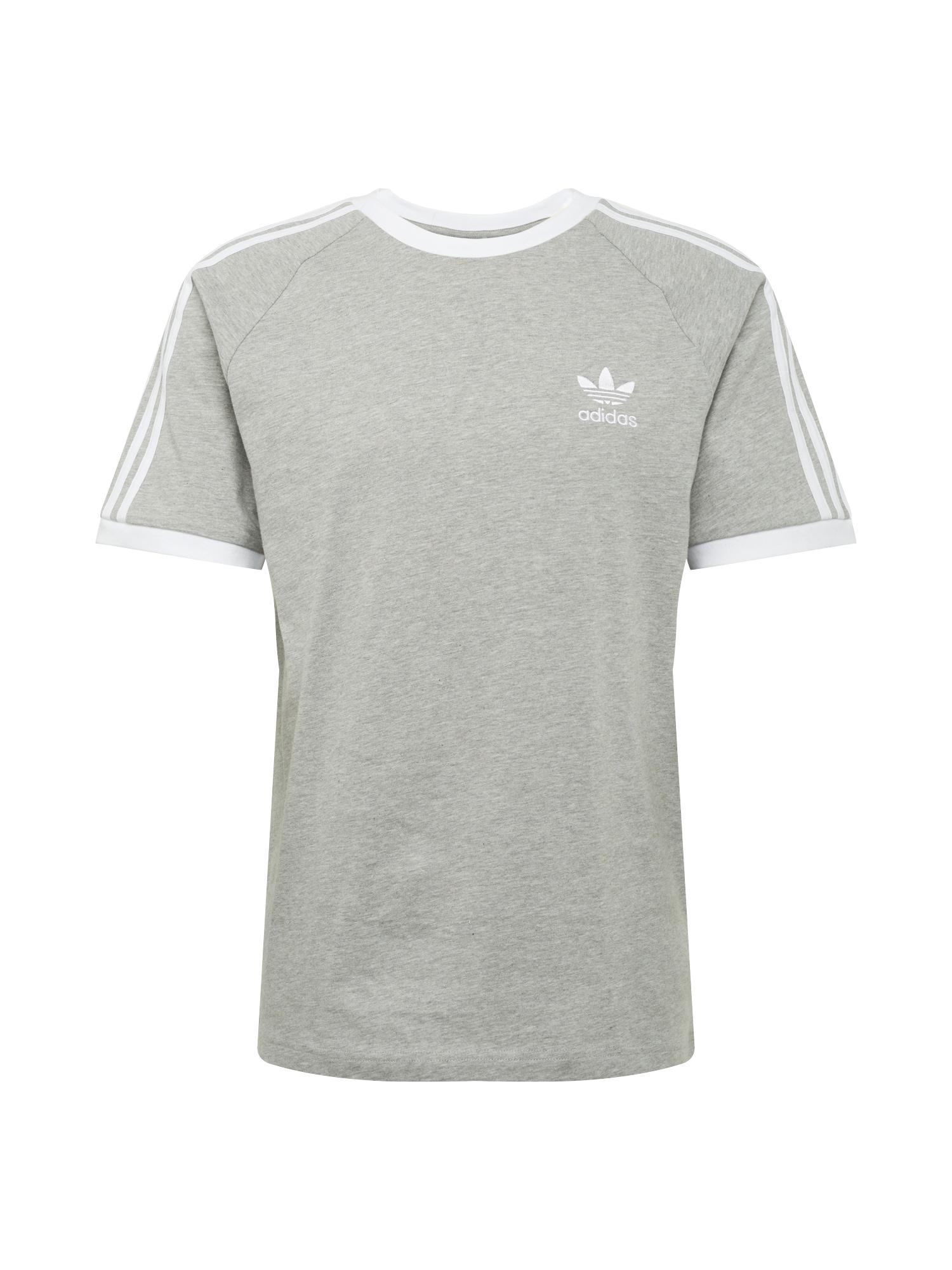 ADIDAS ORIGINALS Marškinėliai balta / margai pilka