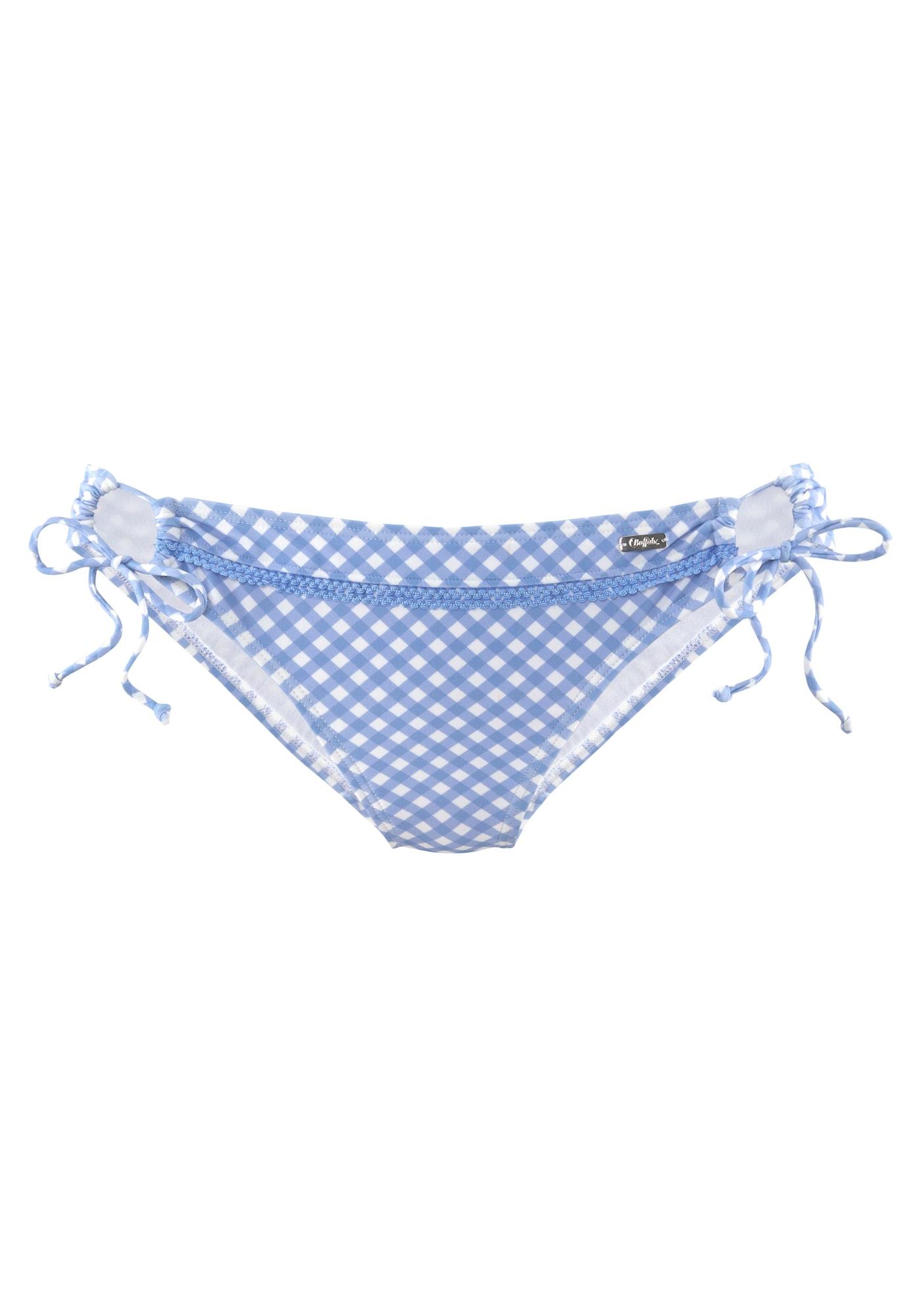 BUFFALO Bikinio kelnaitės mėlyna / balta
