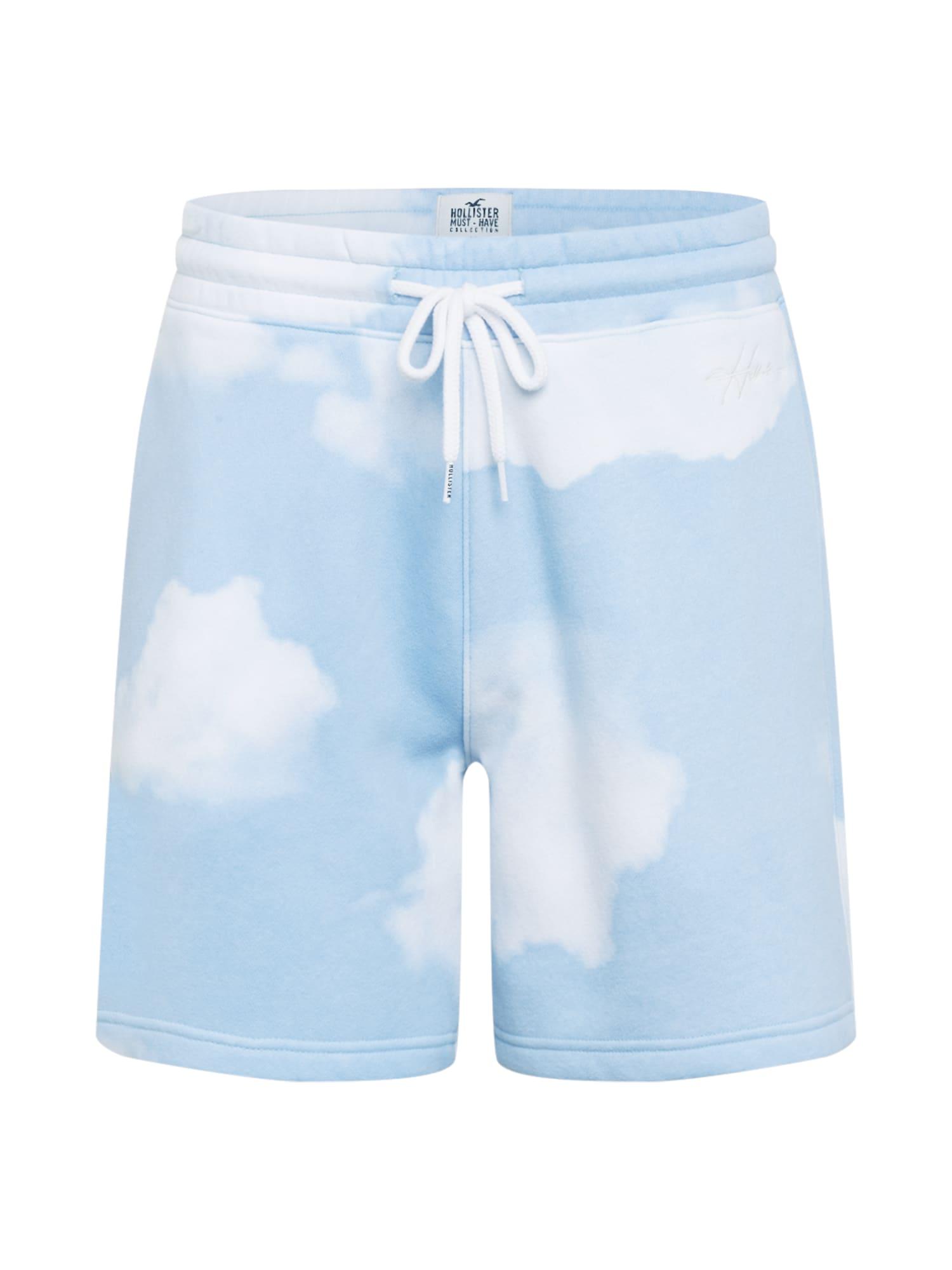 HOLLISTER Kelnės šviesiai mėlyna / balta