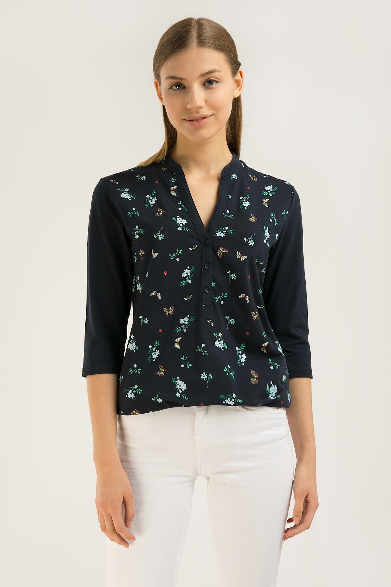 finn flare - Stylische Bluse mit zartem Blumenmuster