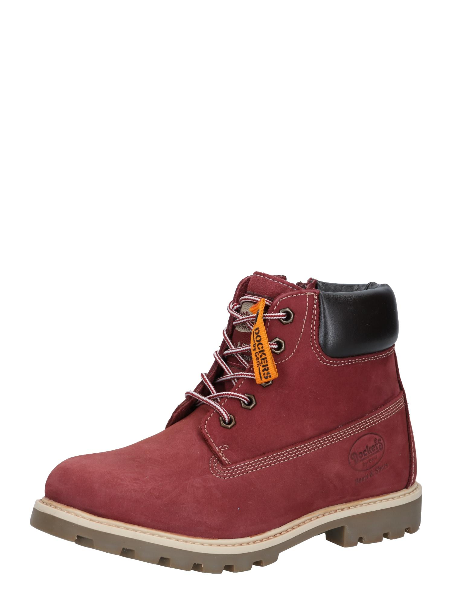 Dockers by Gerli Auliniai batai su kulniuku vyšninė spalva / juoda