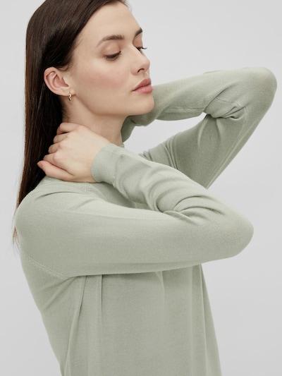 Pieces Sera langärmeliger Strickpullover mit hohem Kragen