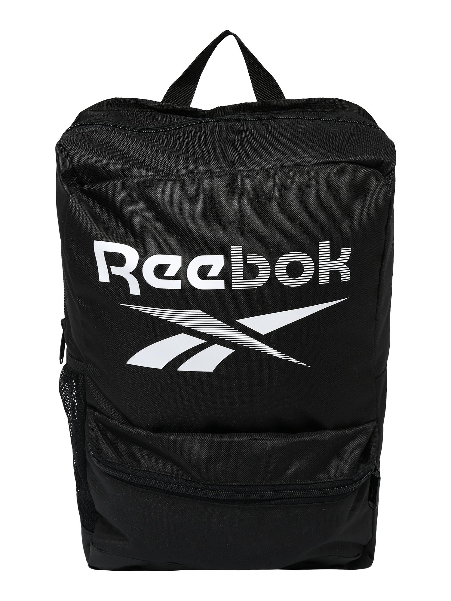 REEBOK Sportinė kuprinė balta / juoda