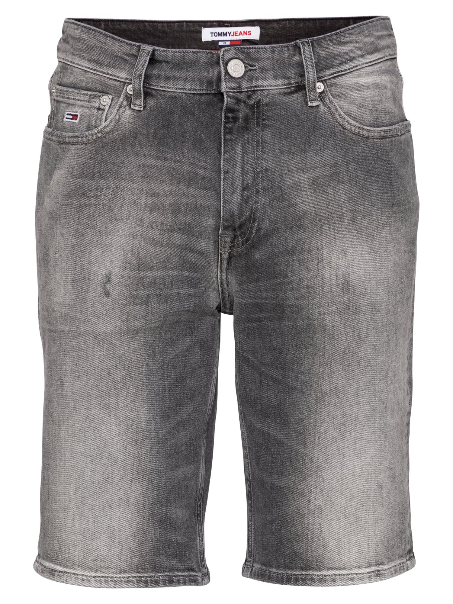Tommy Jeans Džinsai 'DAD' pilko džinso / balta / šviesiai raudona / tamsiai mėlyna