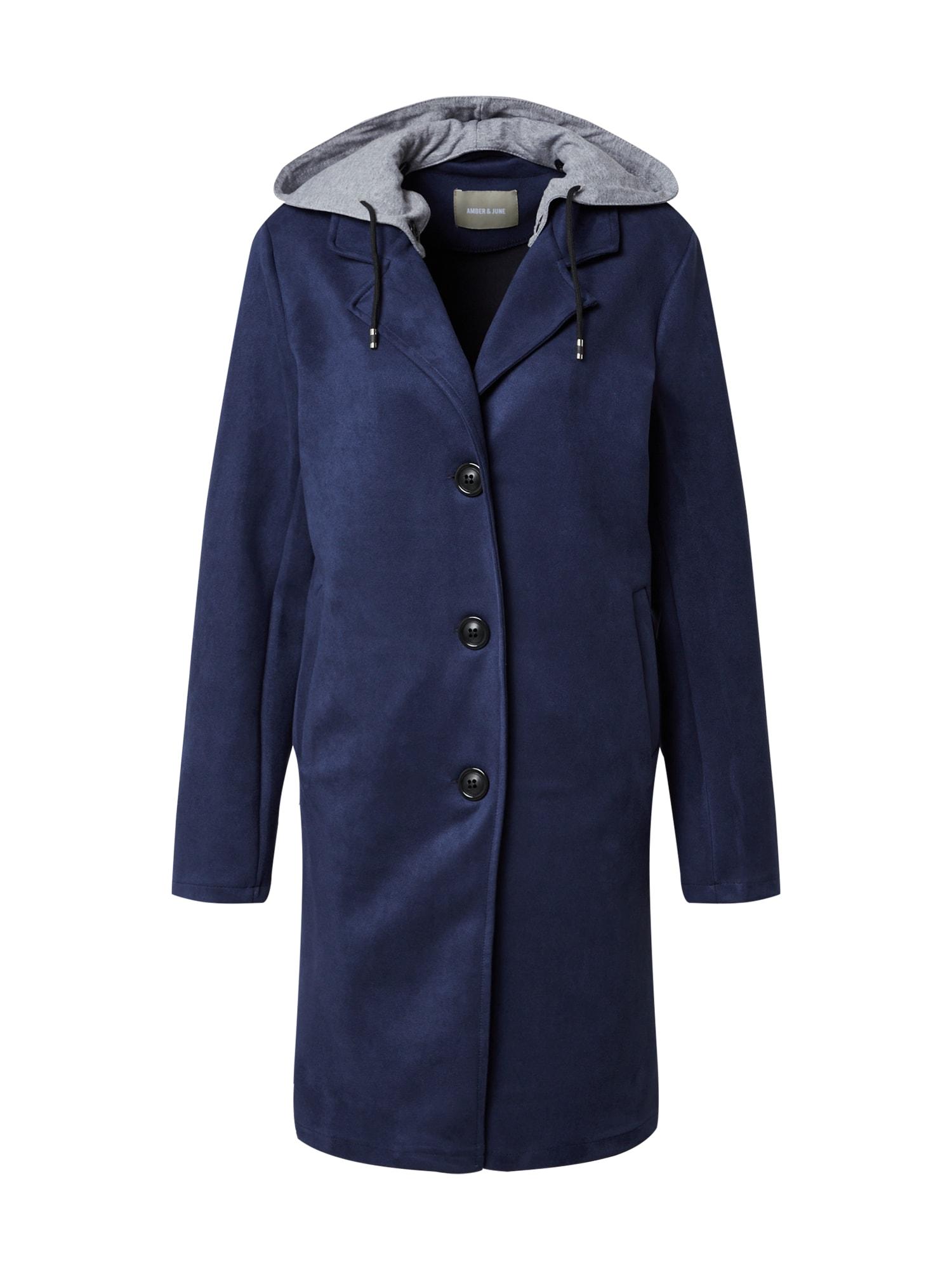 Amber & June Demisezoninis paltas tamsiai mėlyna