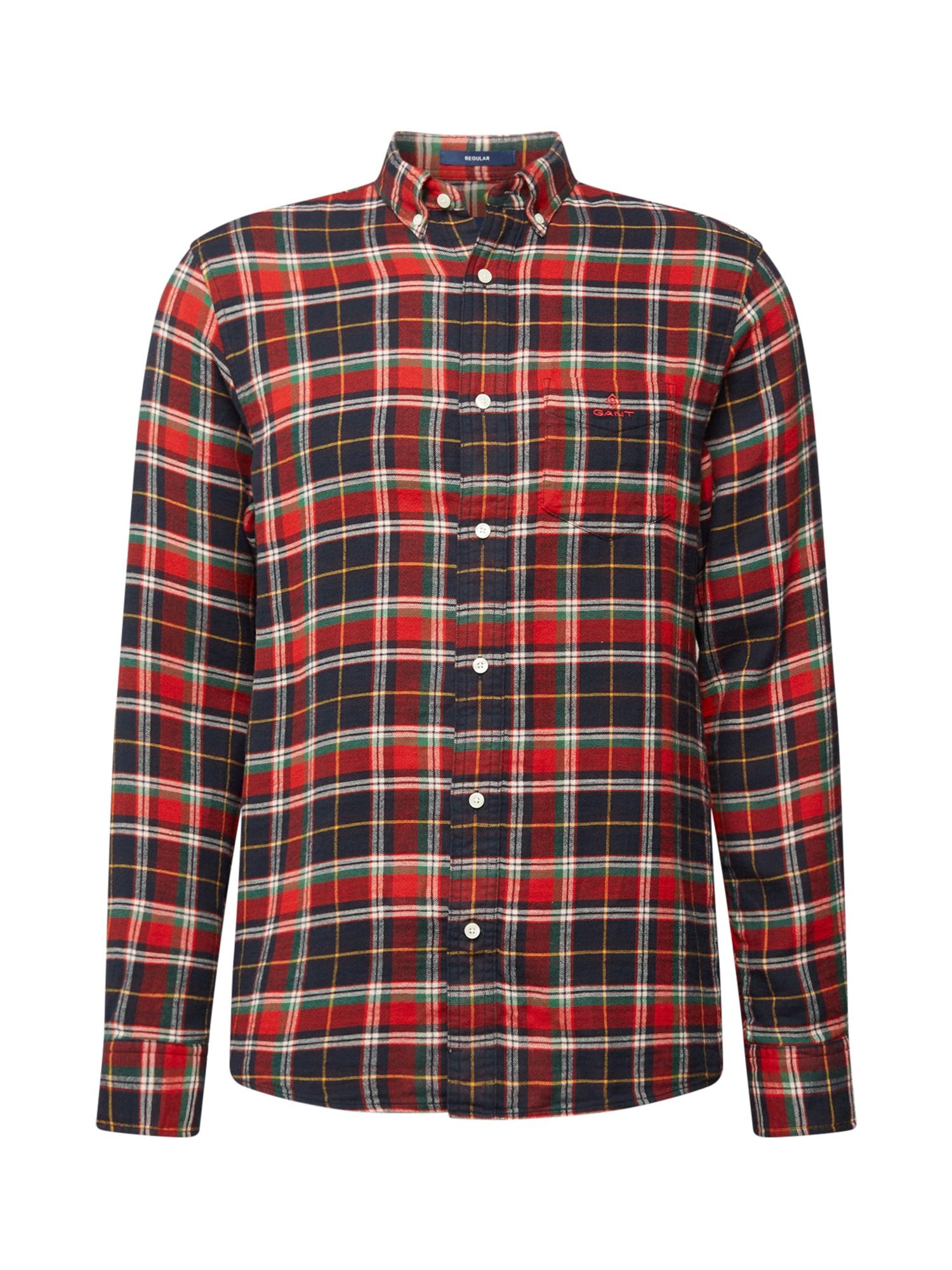 GANT Marškiniai raudona / vyšninė spalva / tamsiai mėlyna / balta / žalia