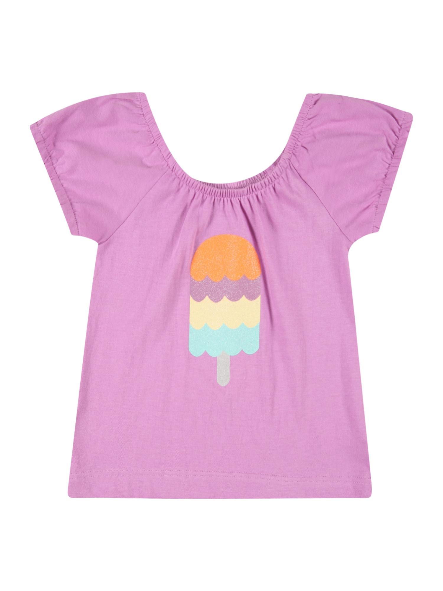 LEMON BERET Marškinėliai purpurinė / oranžinė / šviesiai geltona / šviesiai mėlyna / alyvuogių spalva
