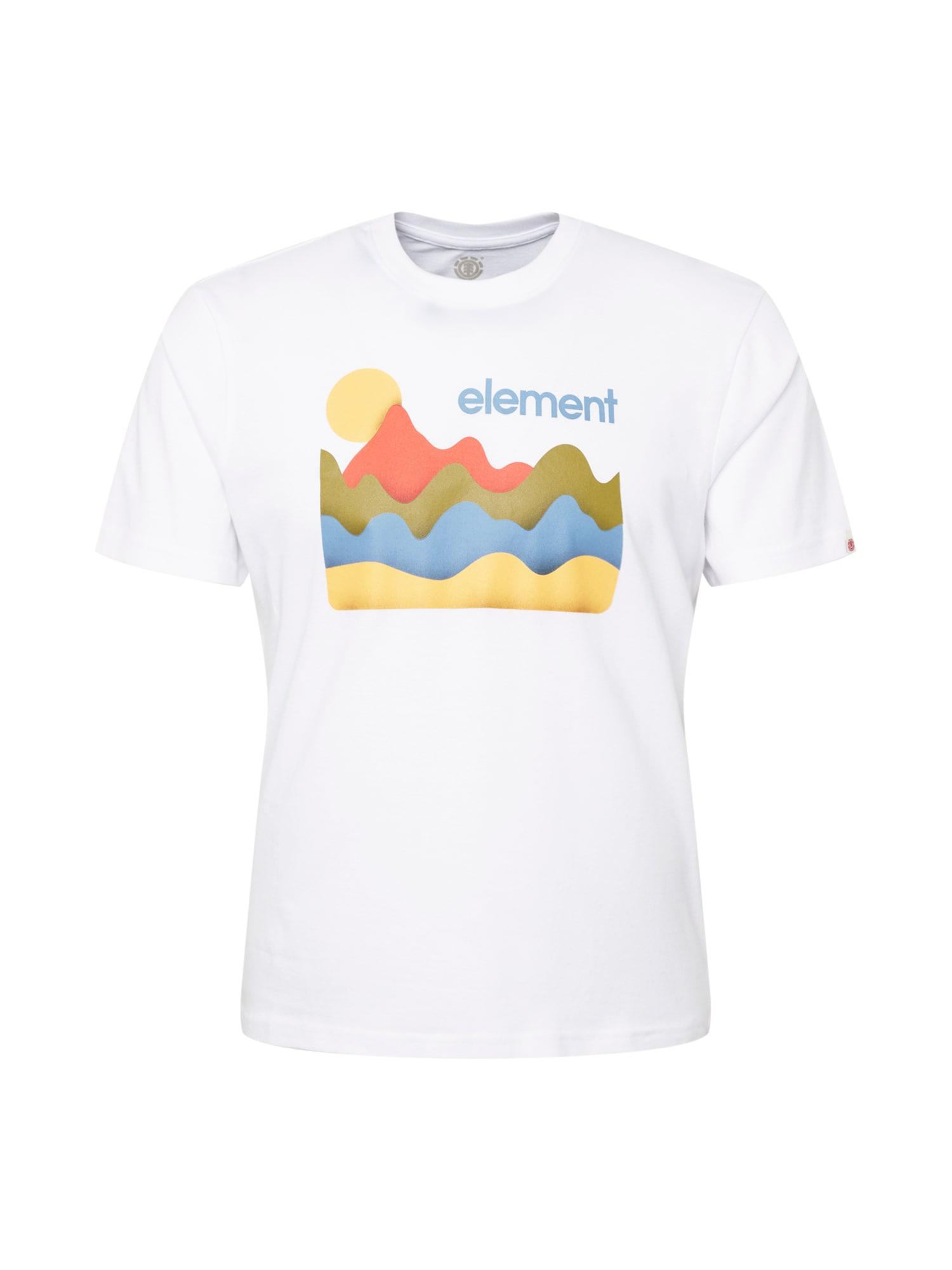 ELEMENT Marškinėliai natūrali balta / koralų splava / alyvuogių spalva / mėlyna / geltona